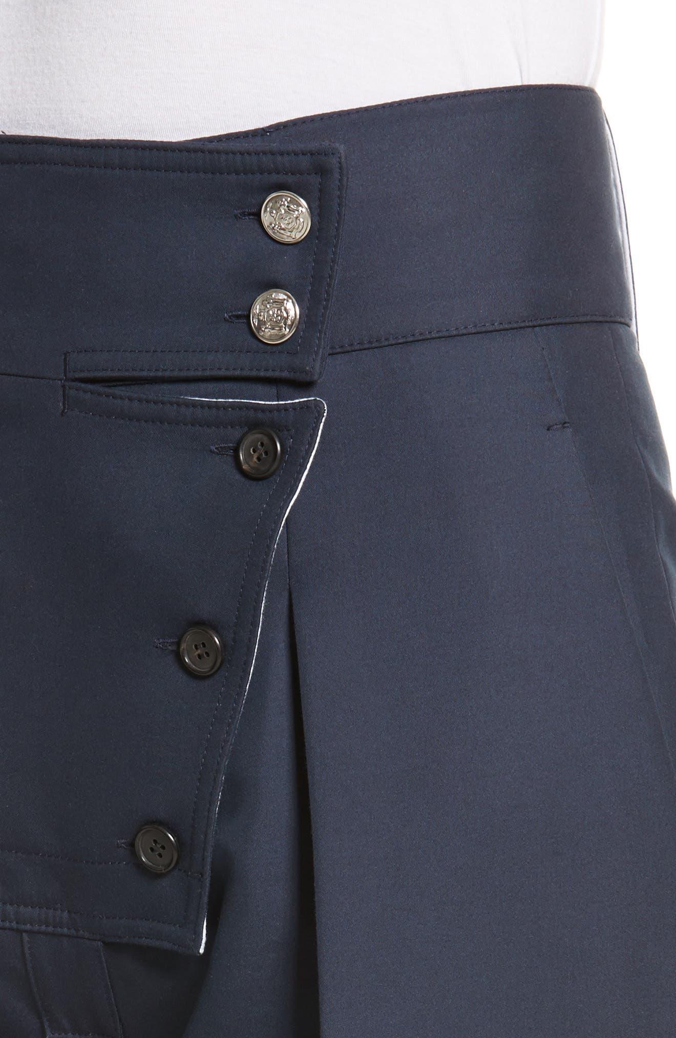 Cotton & Silk Sailor Pants,                             Alternate thumbnail 5, color,                             Navy