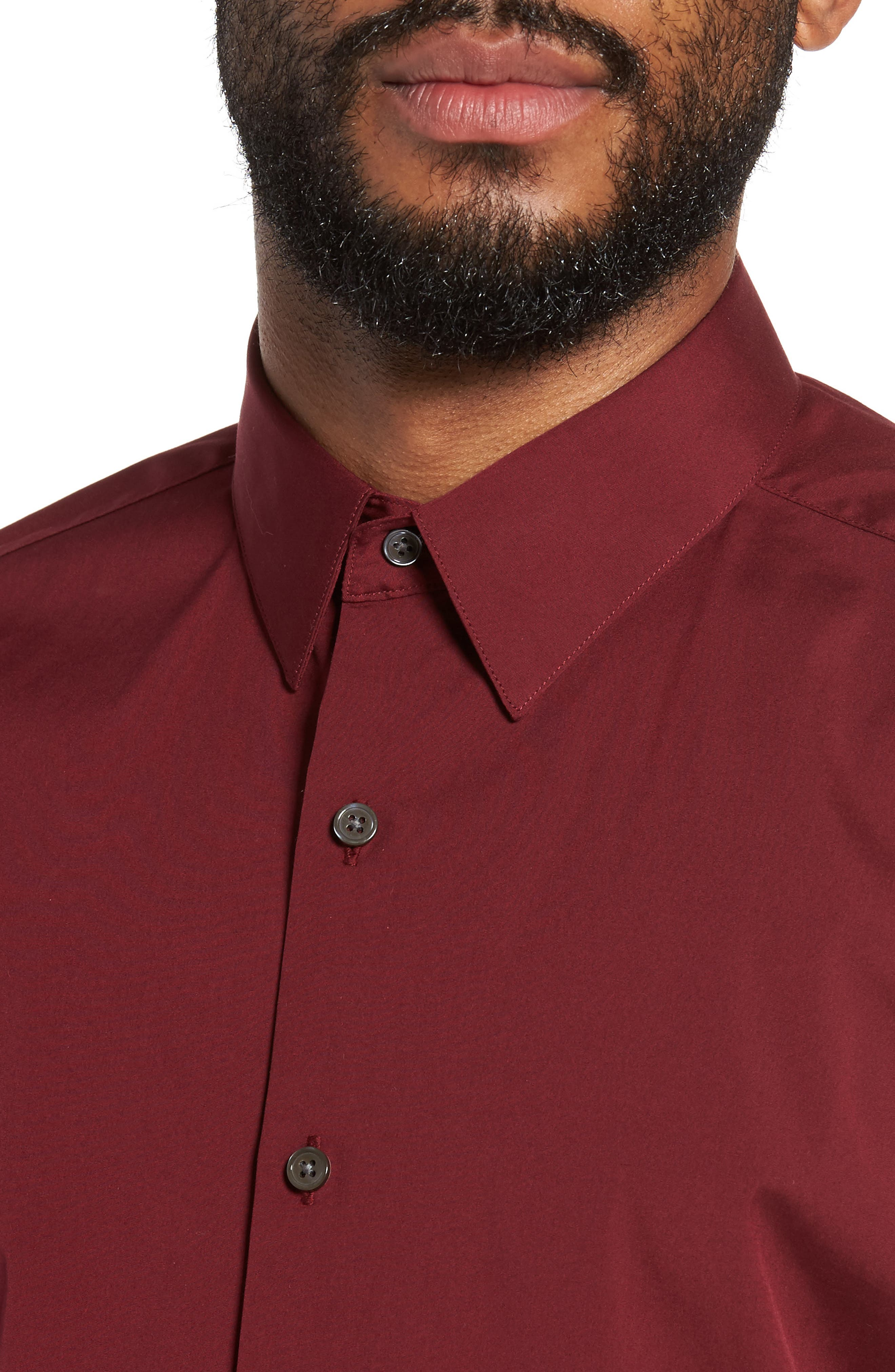 Alternate Image 4  - Theory 'Sylvain' Trim Fit Long Sleeve Sport Shirt