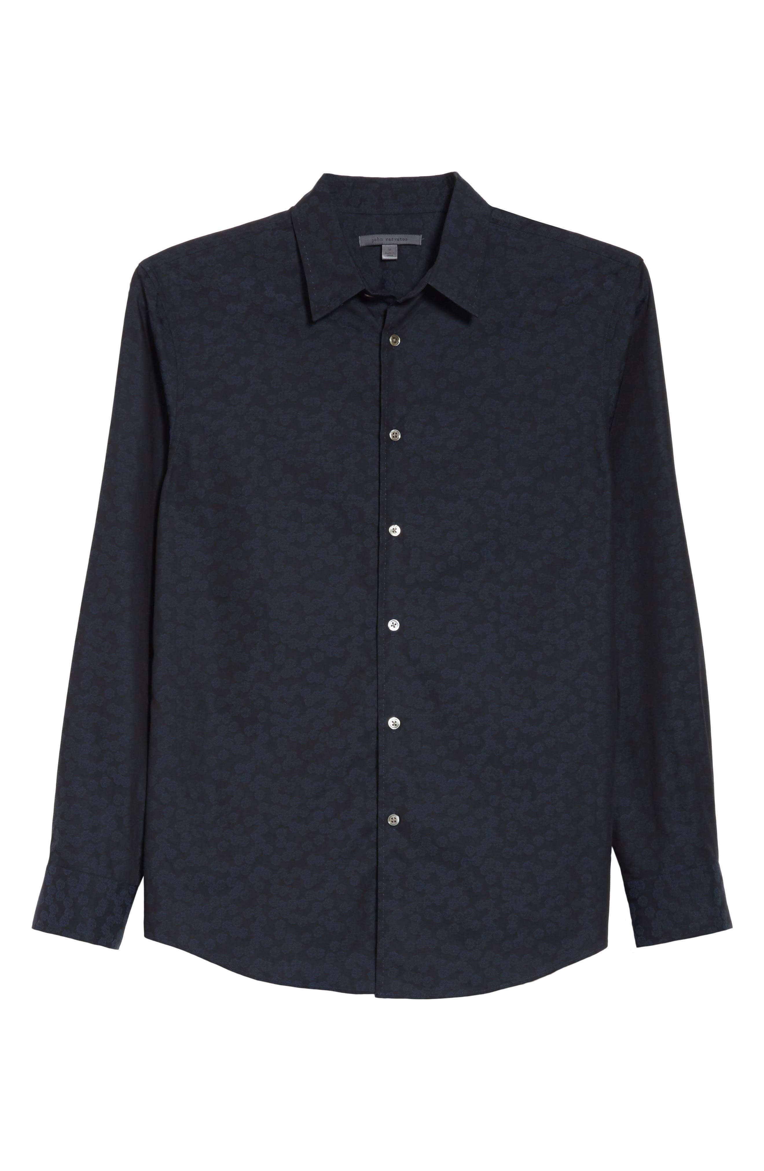 Alternate Image 6  - John Varvatos Collection Classic Fit Jacquard Shirt