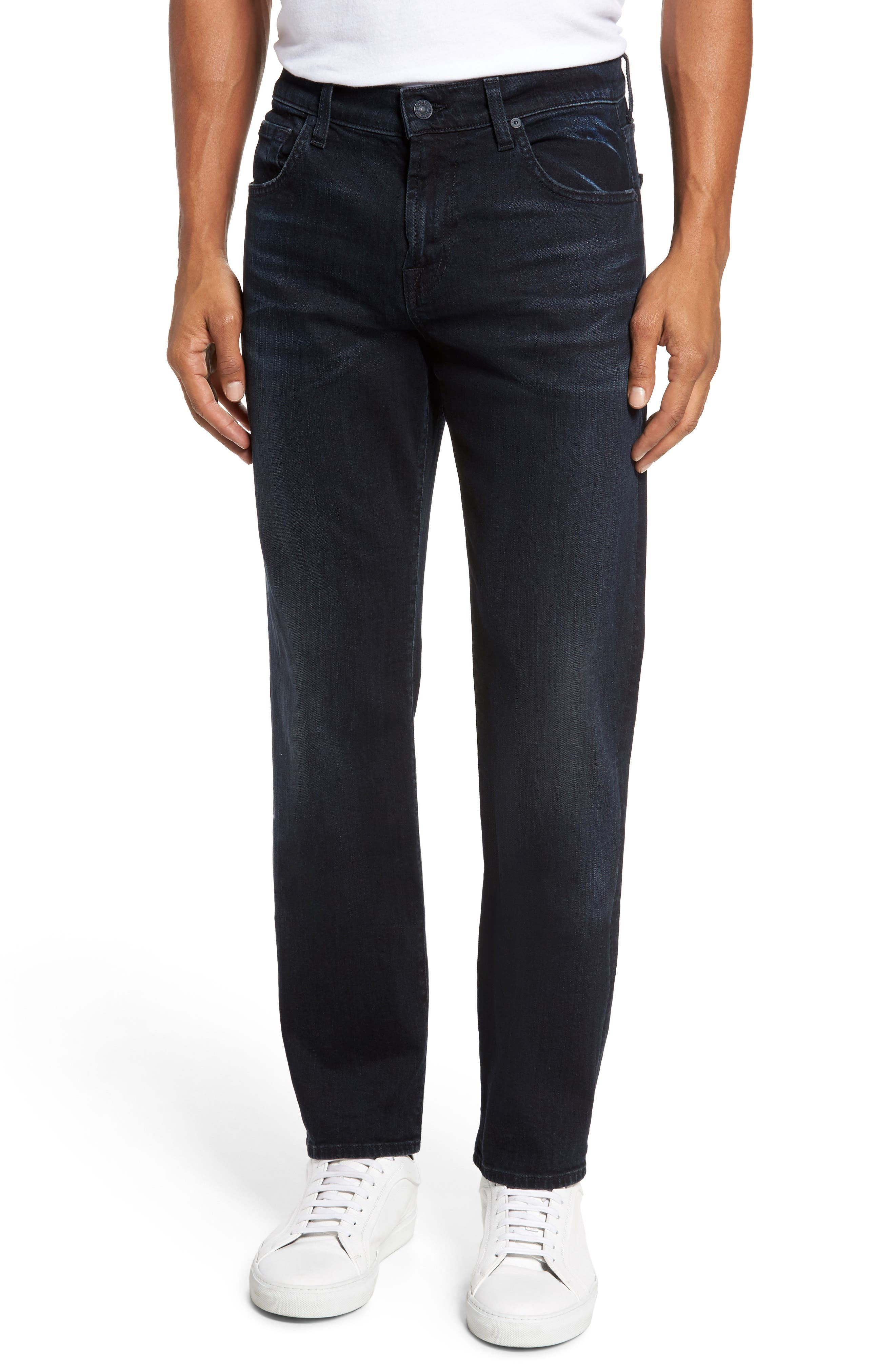 7 For All Mankind® Luxe Performance - The Straight Slim Straight Leg Jeans (Havoc)