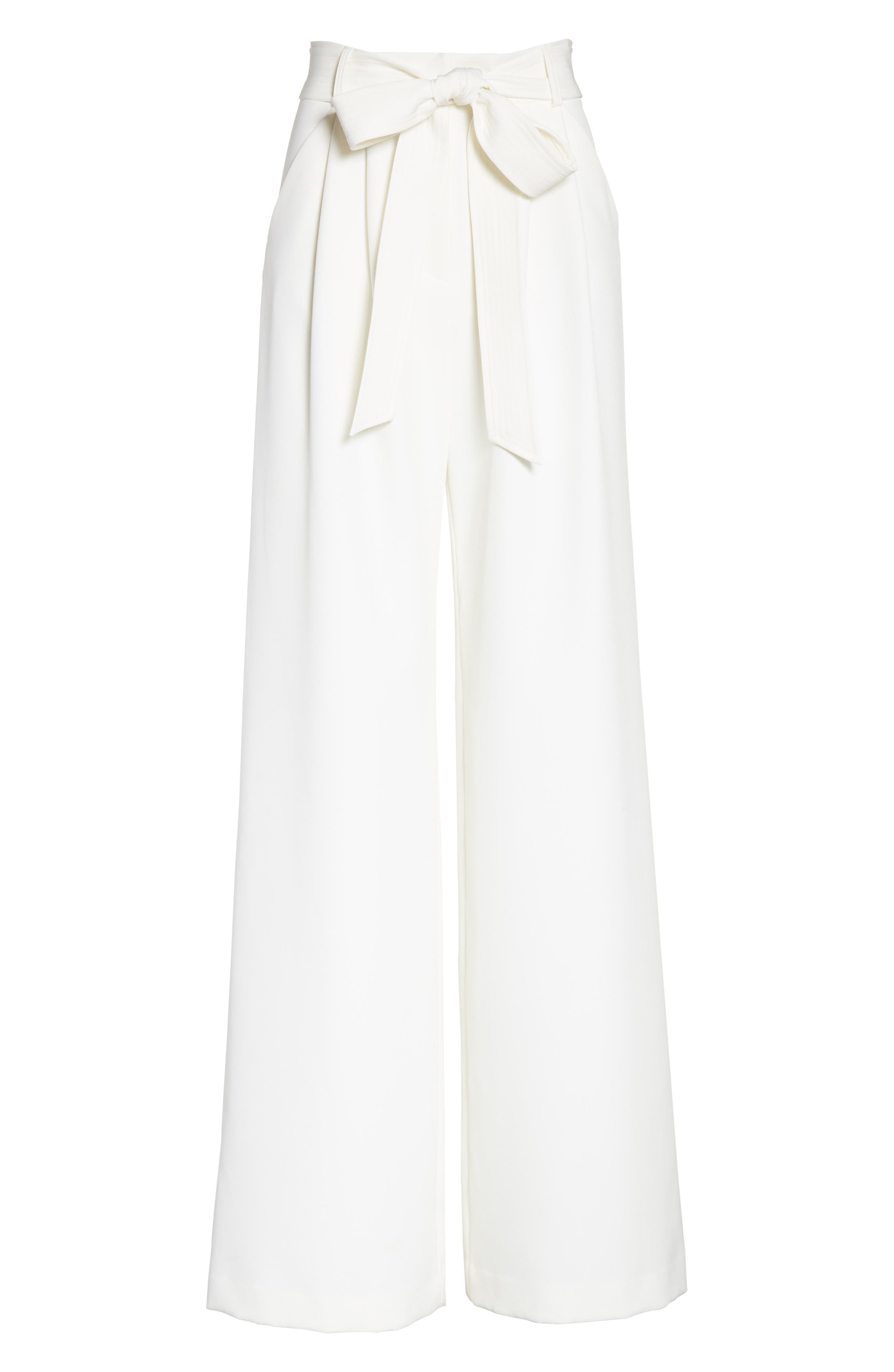 Alternate Image 6  - Milly Italian Cady Trapunto Tie Waist Trousers