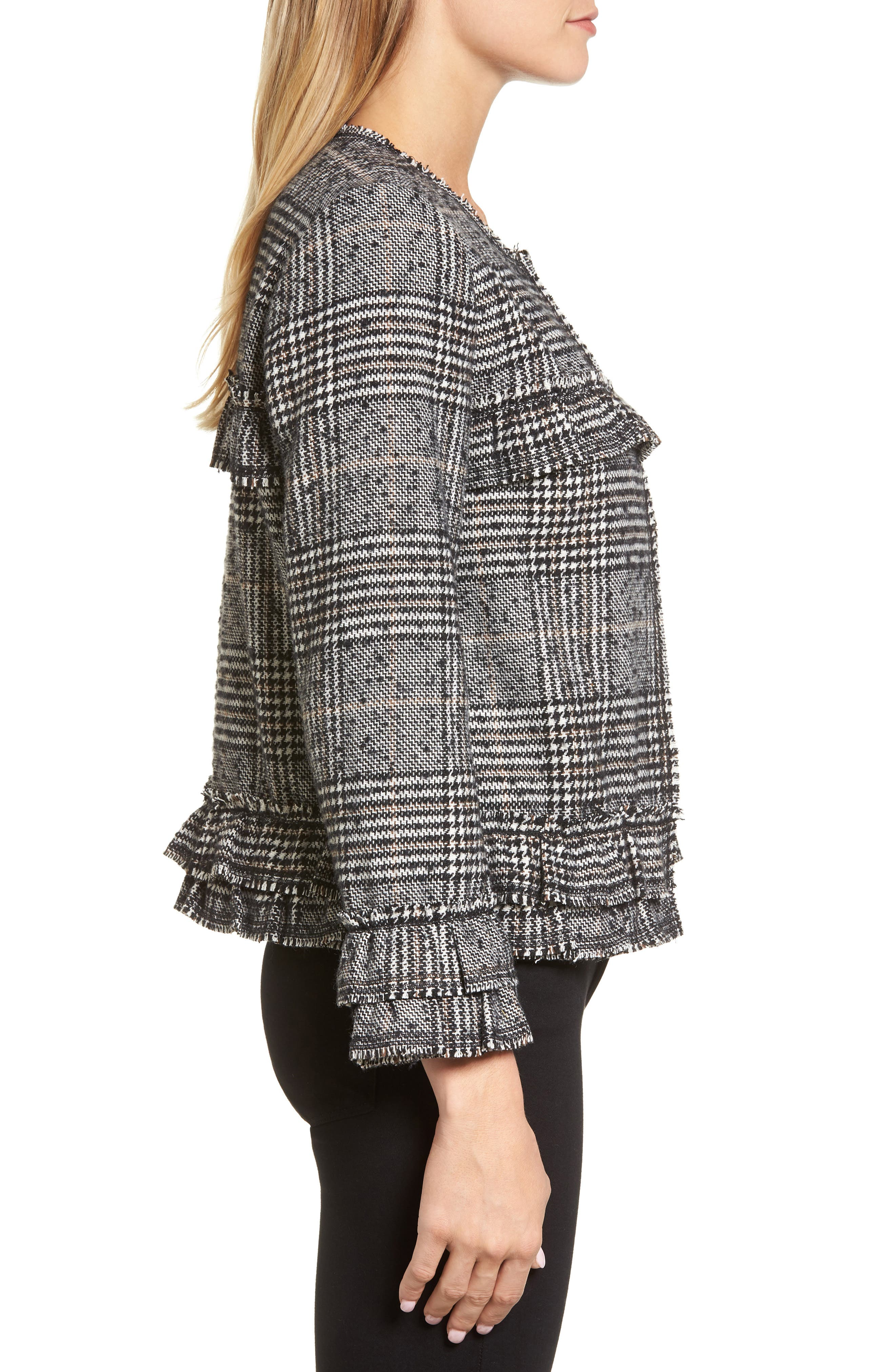 Alternate Image 3  - Pleione Ruffle Plaid Jacket