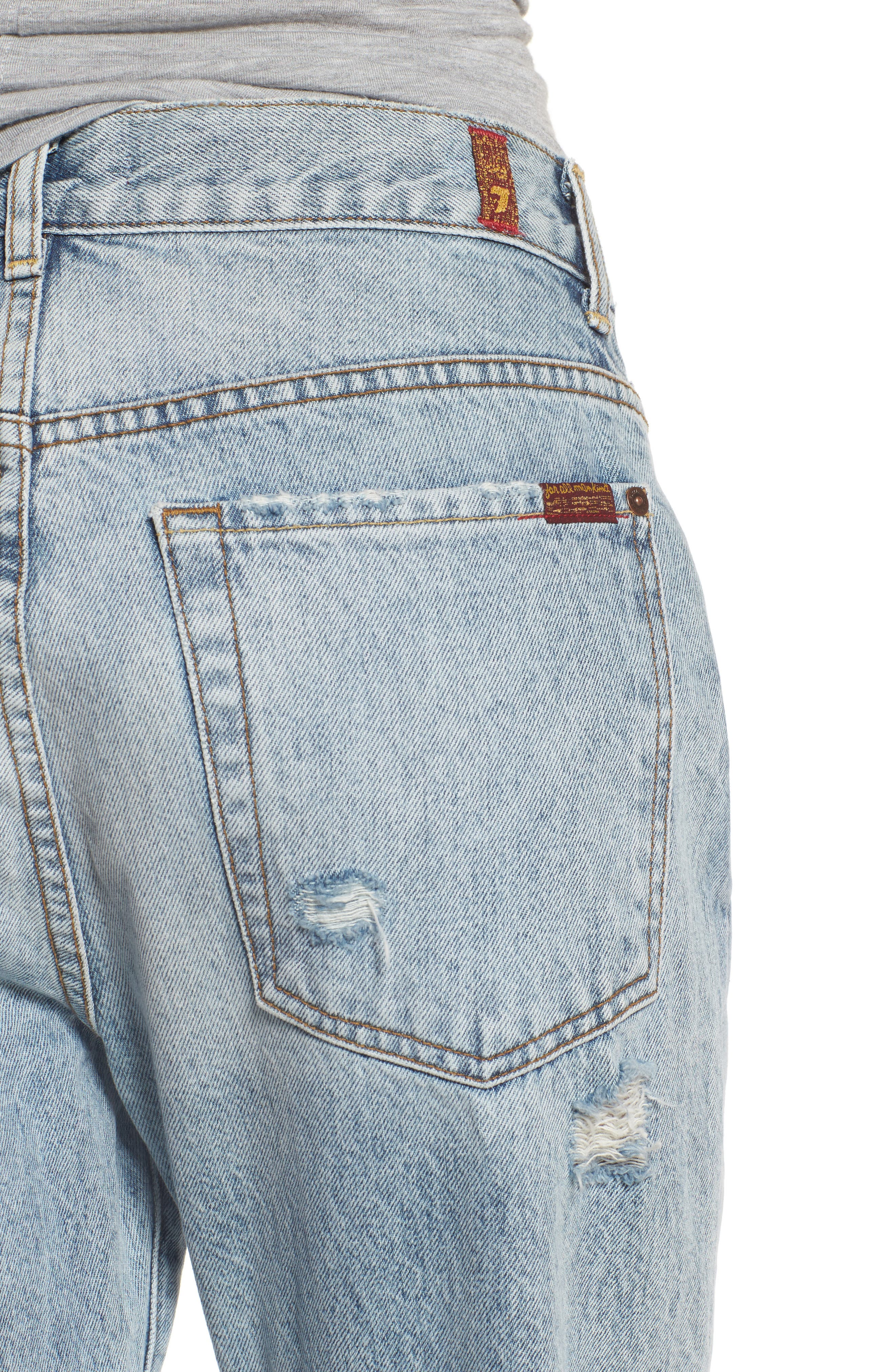 Alternate Image 5  - 7 For All Mankind® Rickie High Waist Boyfriend Jeans (Mineral Desert Springs)