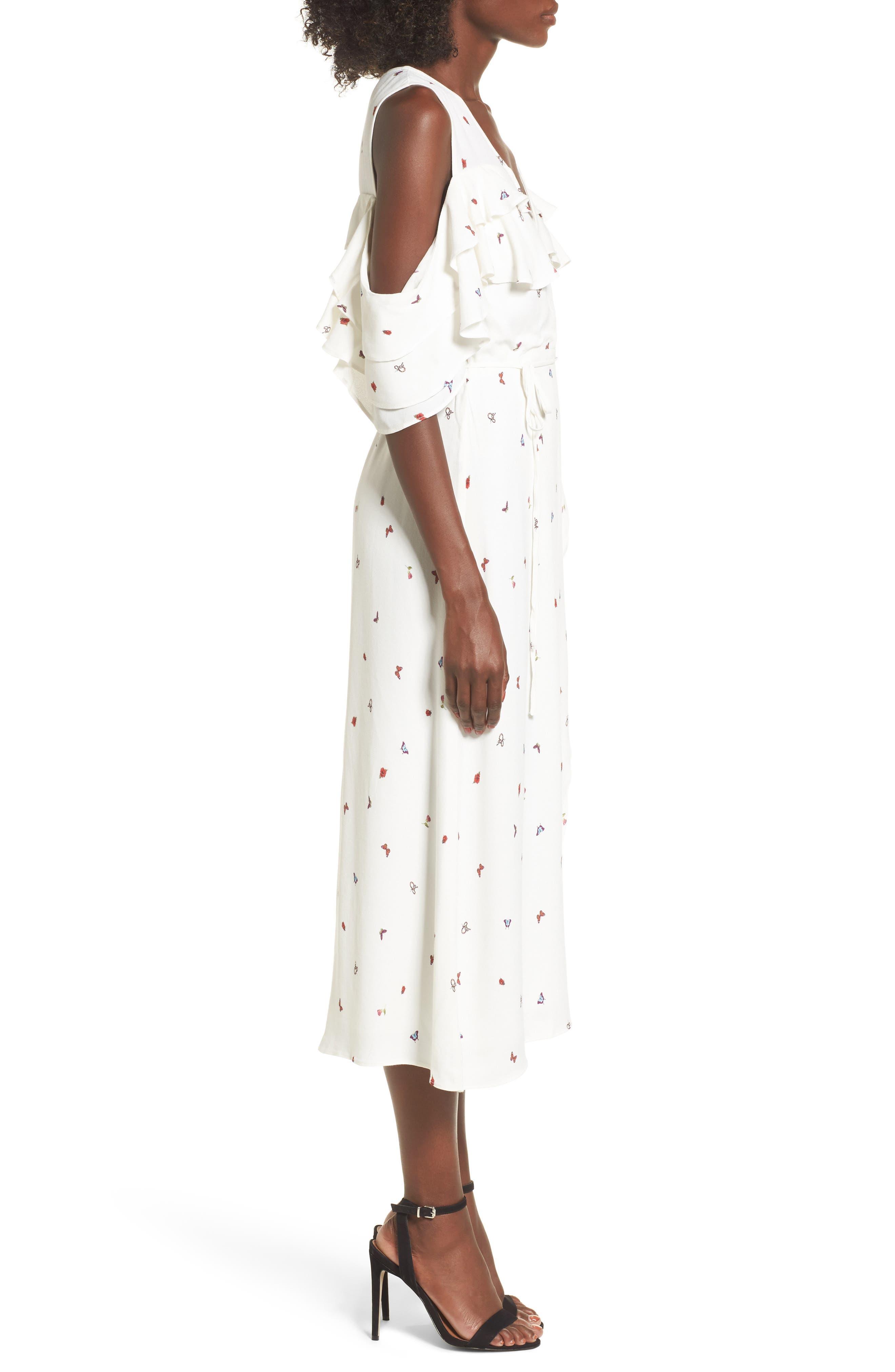 Alternate Image 3  - AFRM Daisy Ruffle Midi Dress