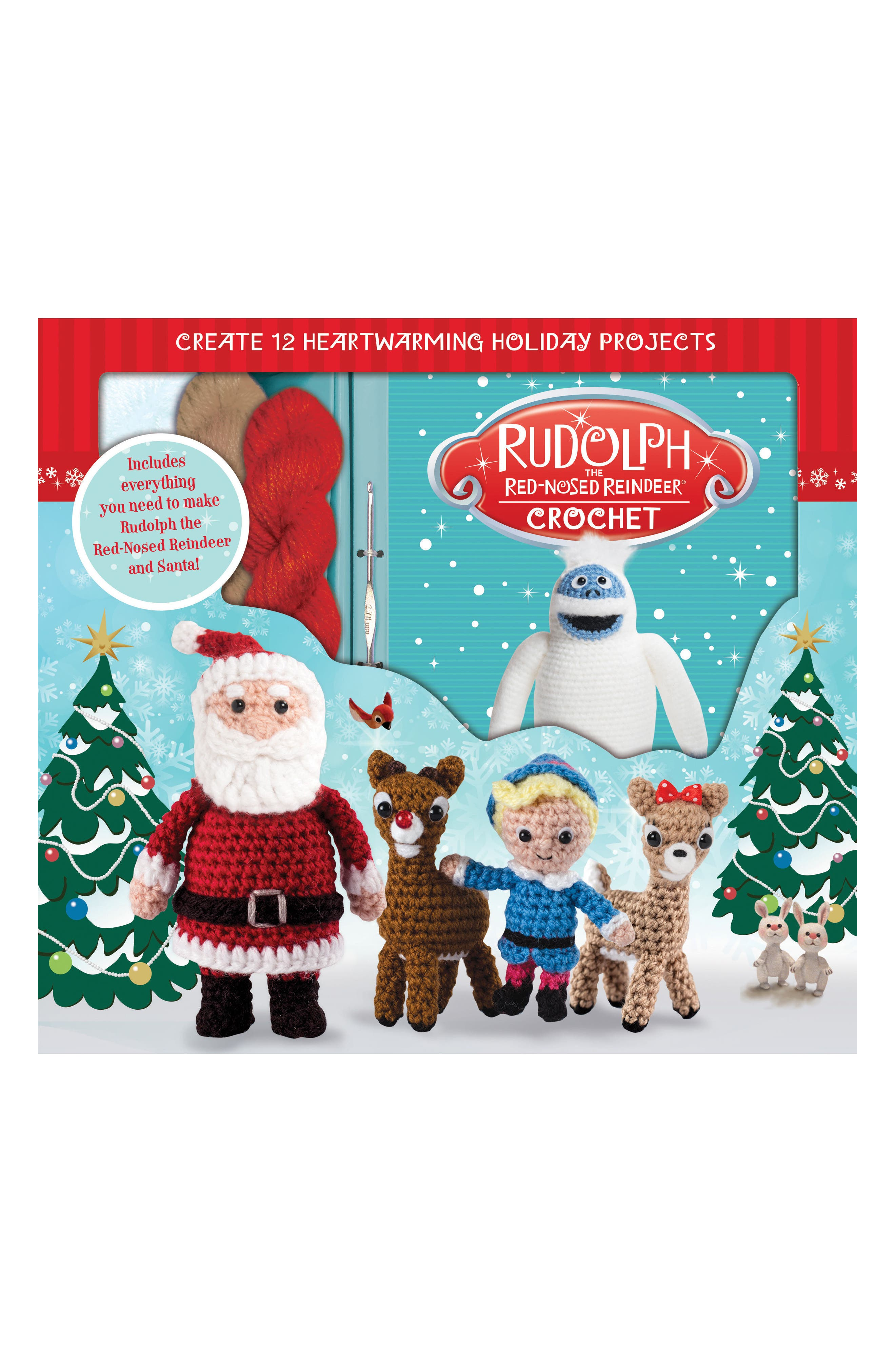 Rudolph the Red Nosed Reindeer Crochet Kit,                             Main thumbnail 1, color,                             Red