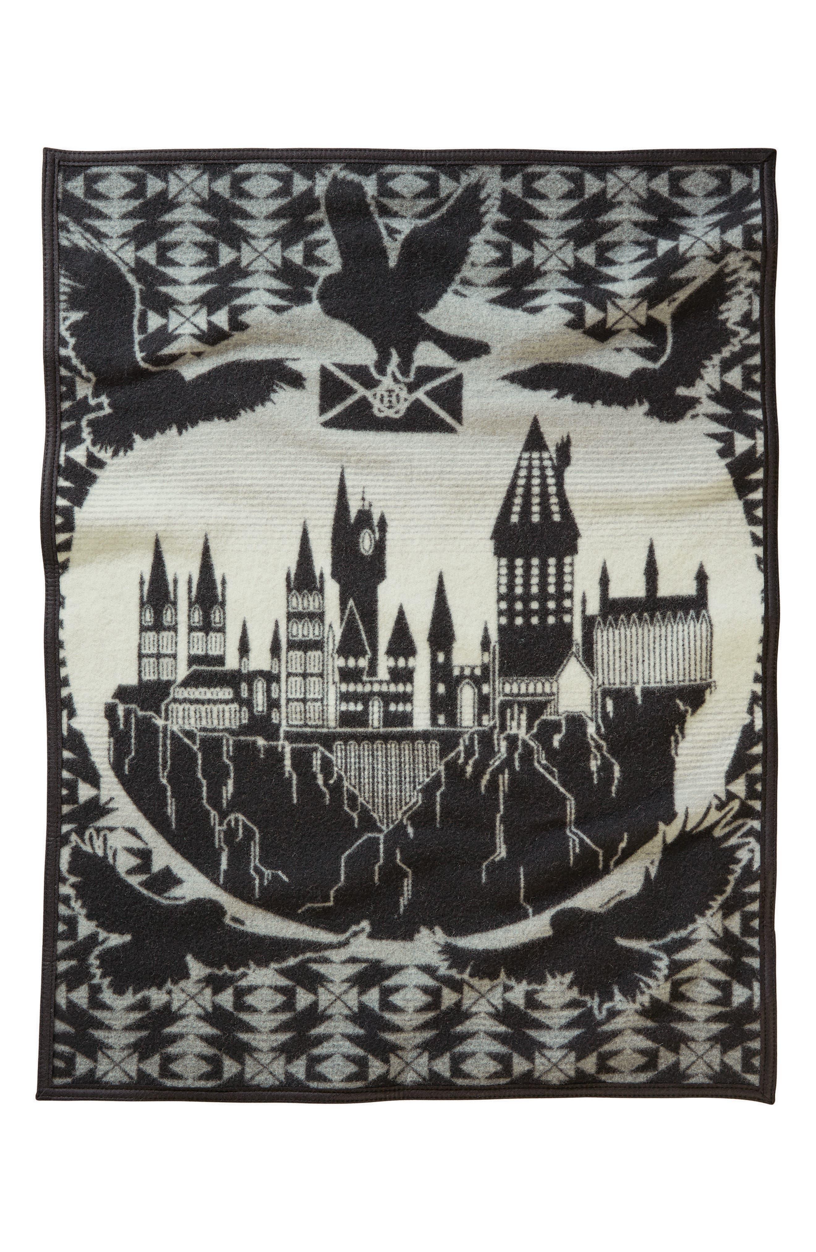 Hogwarts is My Home Crib Blanket,                             Alternate thumbnail 2, color,                             Black