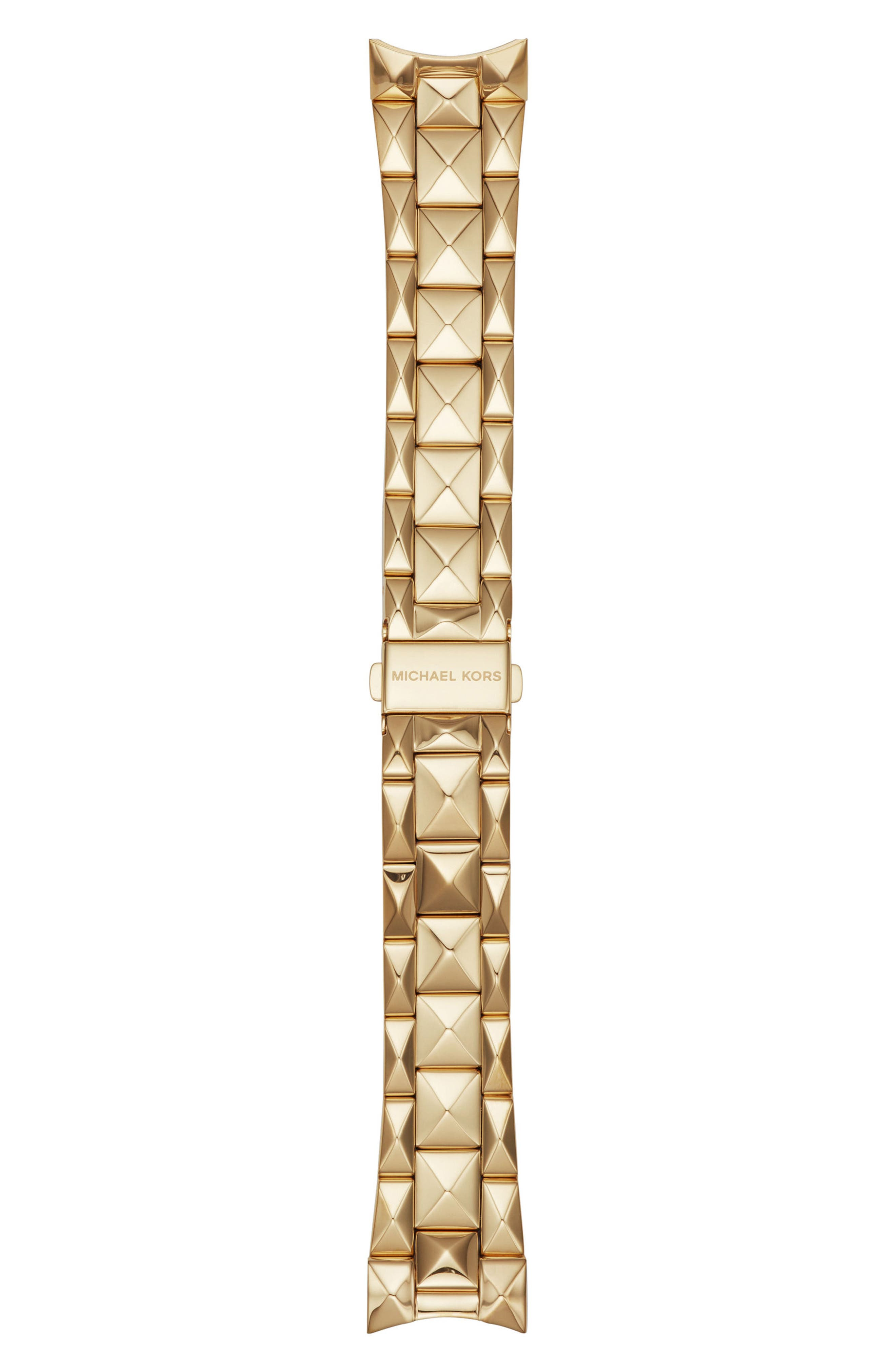 Bradshaw 22mm Stud Watch Bracelet,                         Main,                         color, Gold