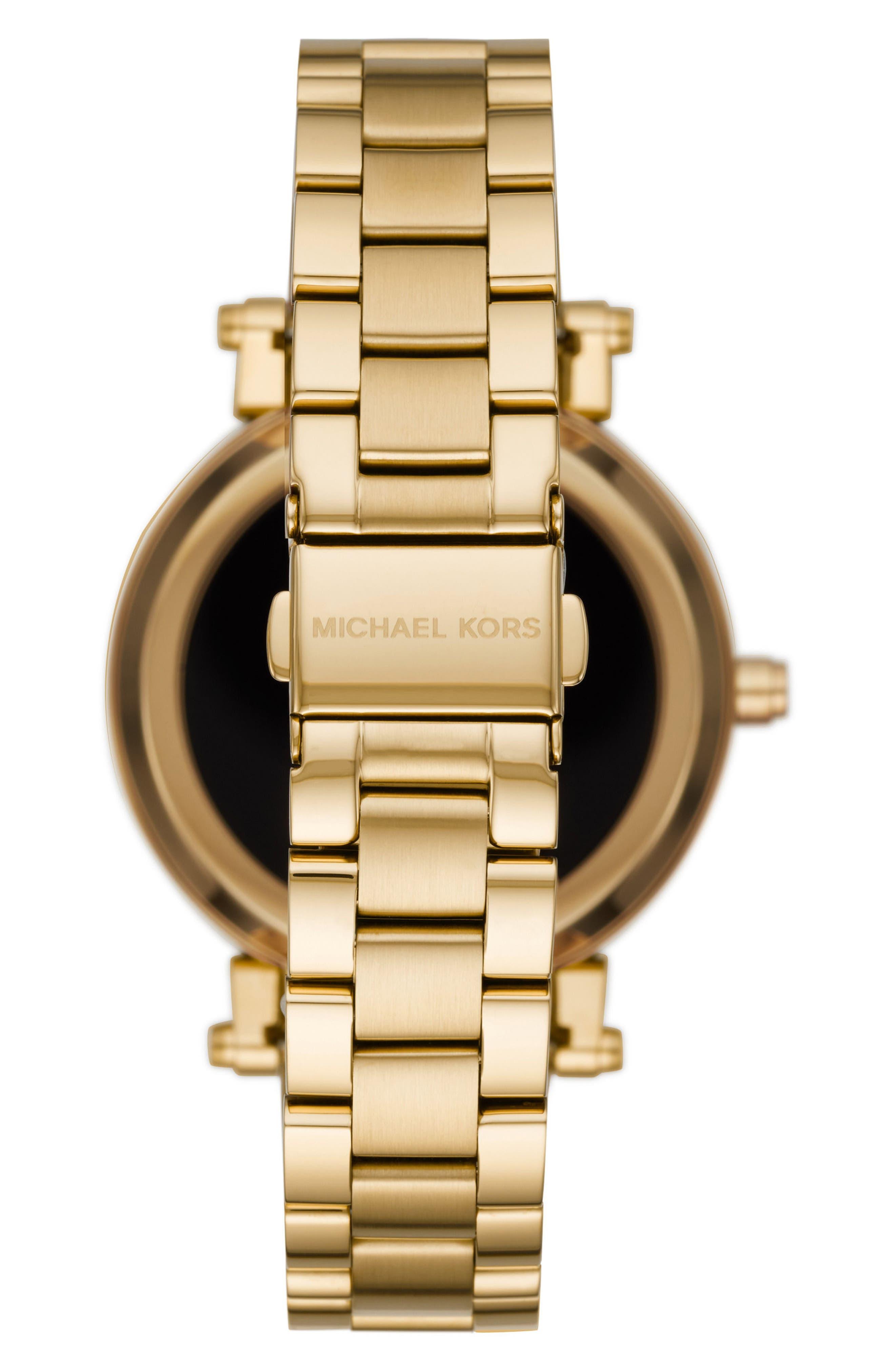 Alternate Image 3  - Michael Kors Access Sofie Smart Bracelet Watch, 42mm