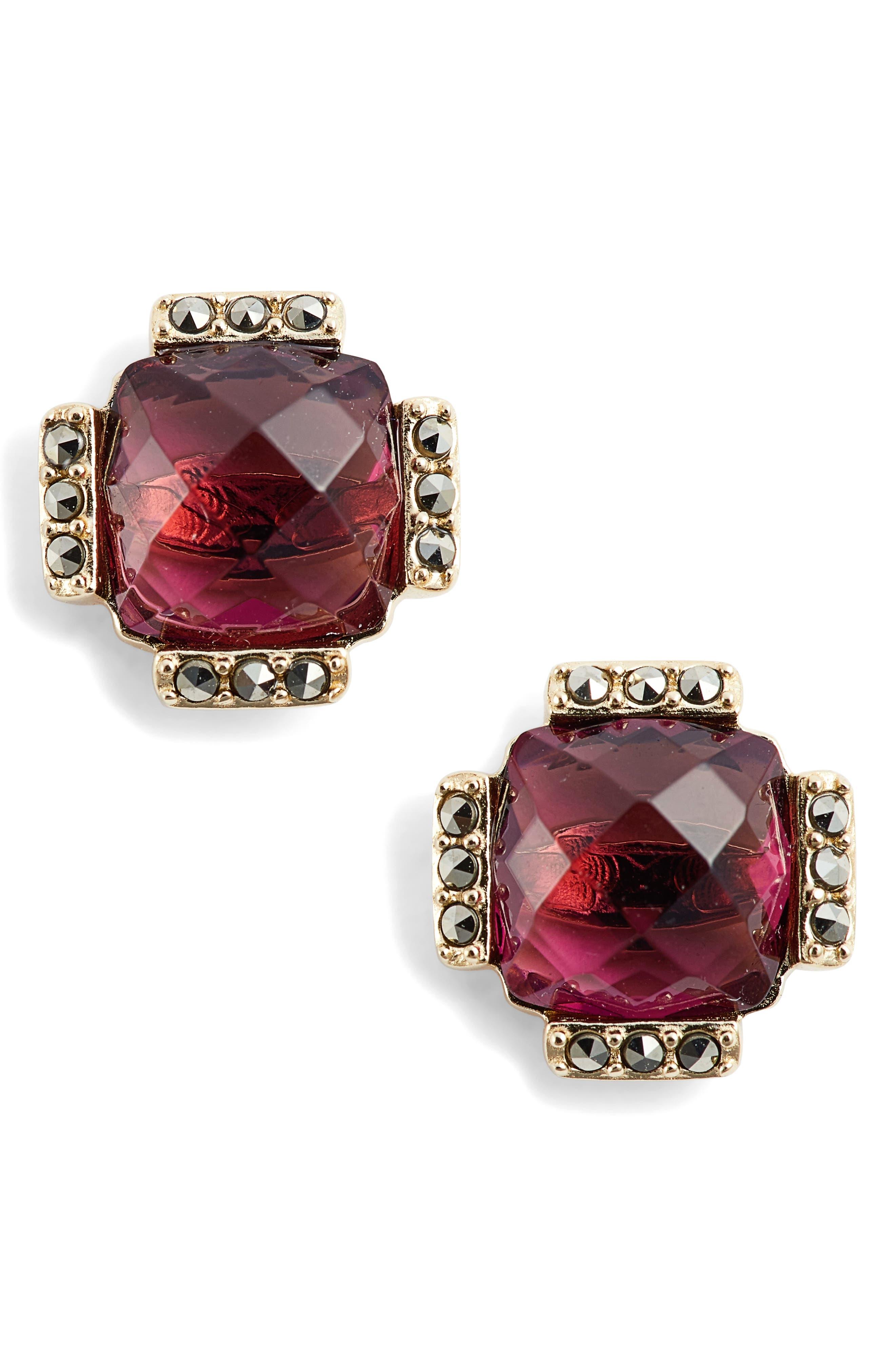 Judith Jack Crystal Stud Earrings