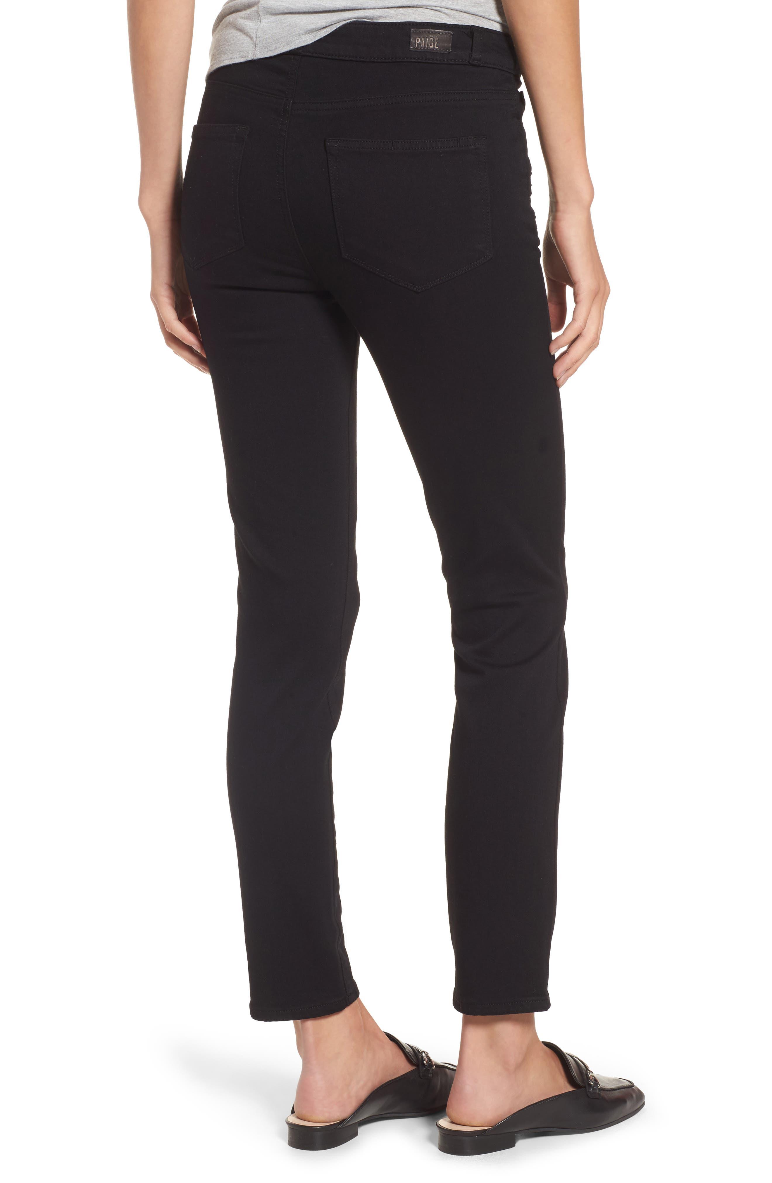Alternate Image 3  - PAIGE Transcend - Kylo High Waist Skinny Jeans (Black Shadow)