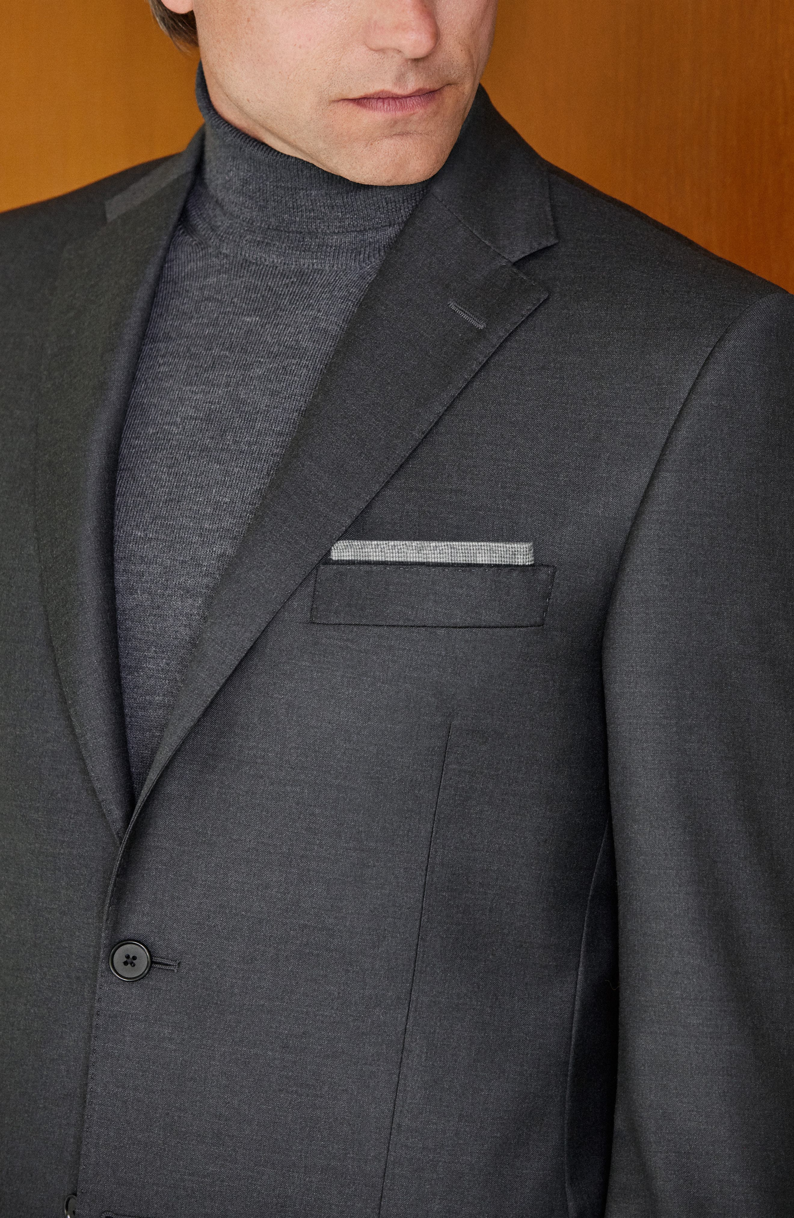 Alternate Image 9  - Hickey Freeman Classic B Fit Solid Wool Suit