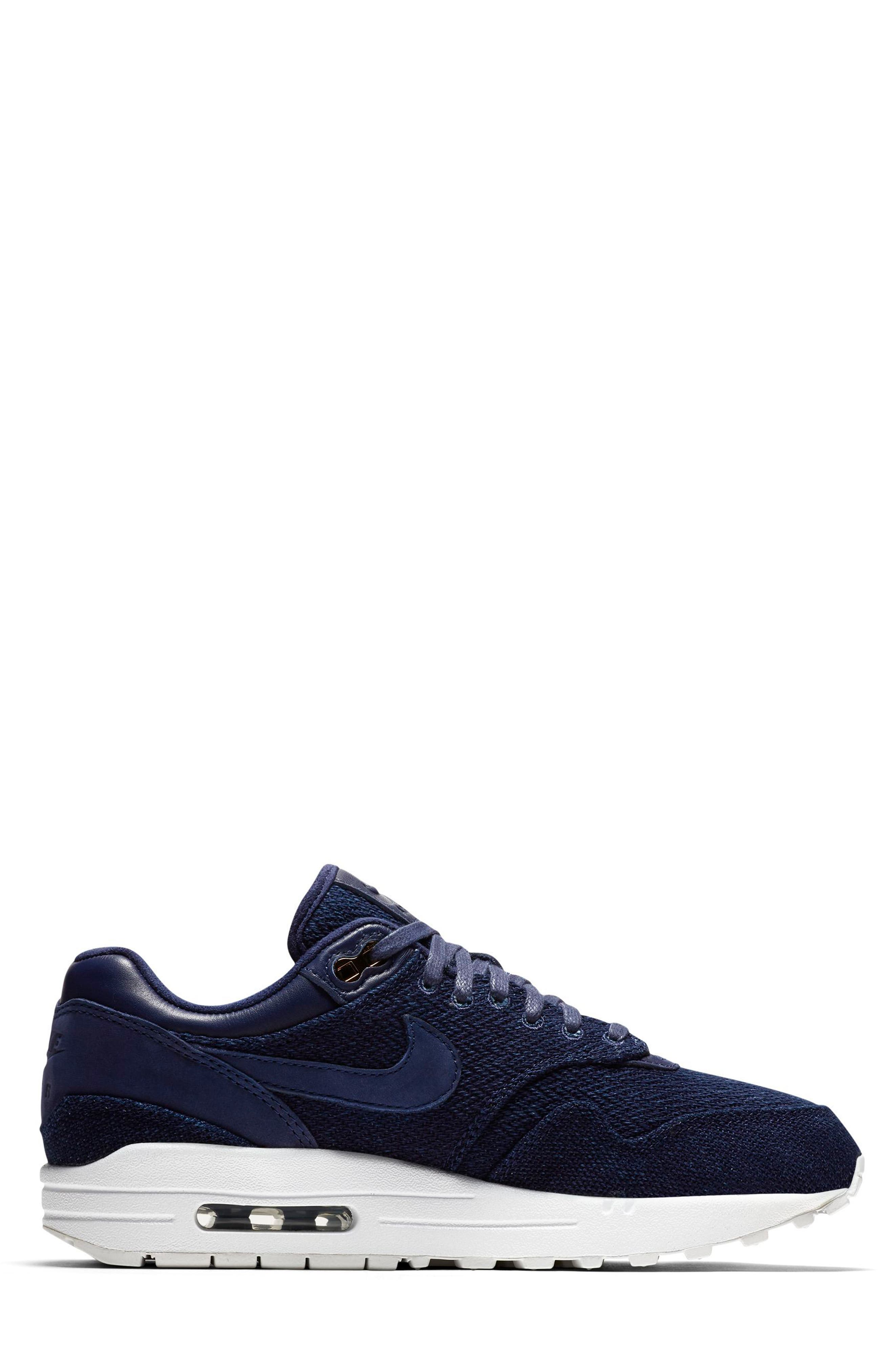 Air Max 1 Lux Sneaker,                             Alternate thumbnail 2, color,                             Binary Blue/ White/ Stout
