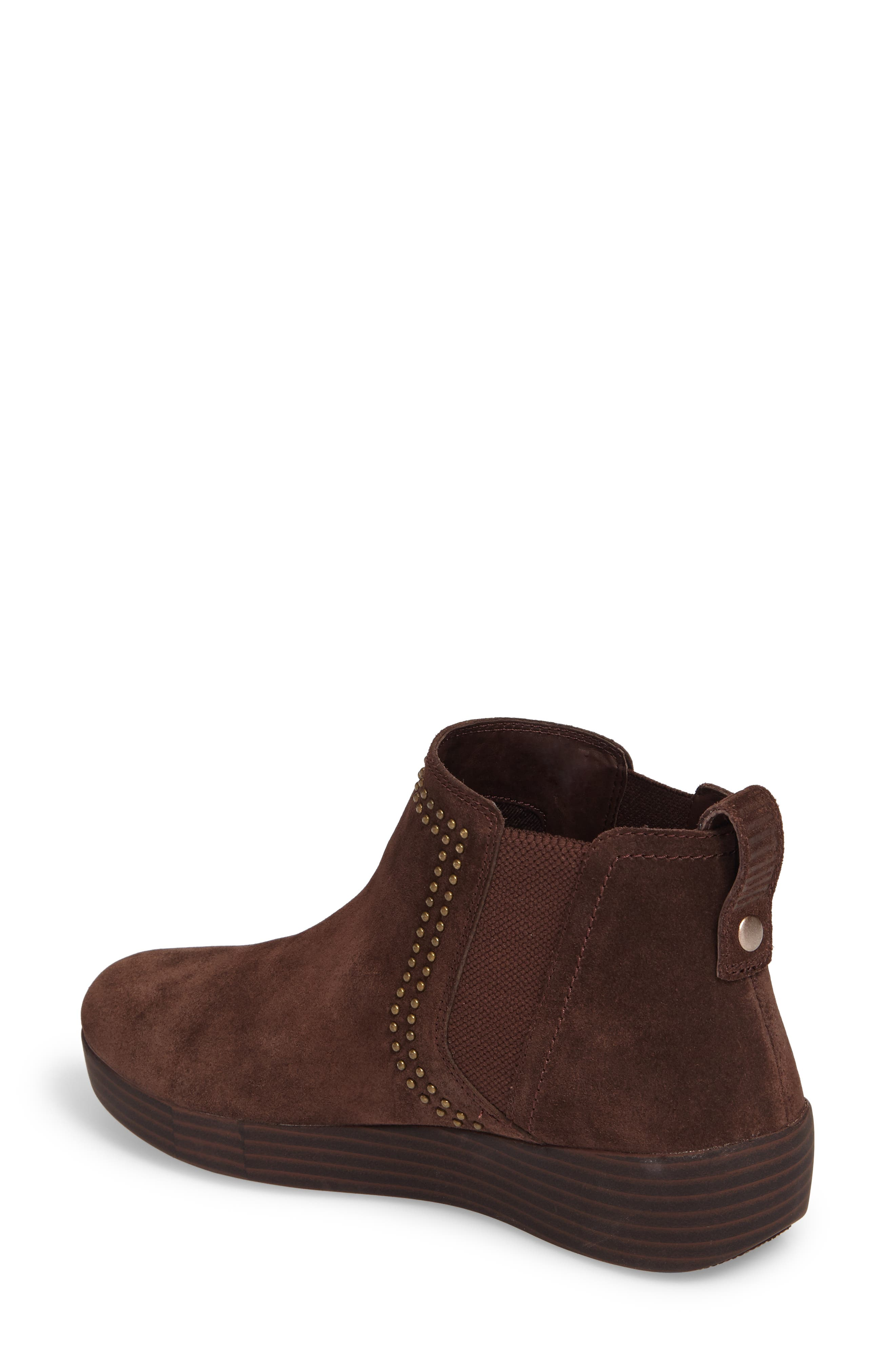 Superchelsea Studded Boot,                             Alternate thumbnail 2, color,                             Chocolate