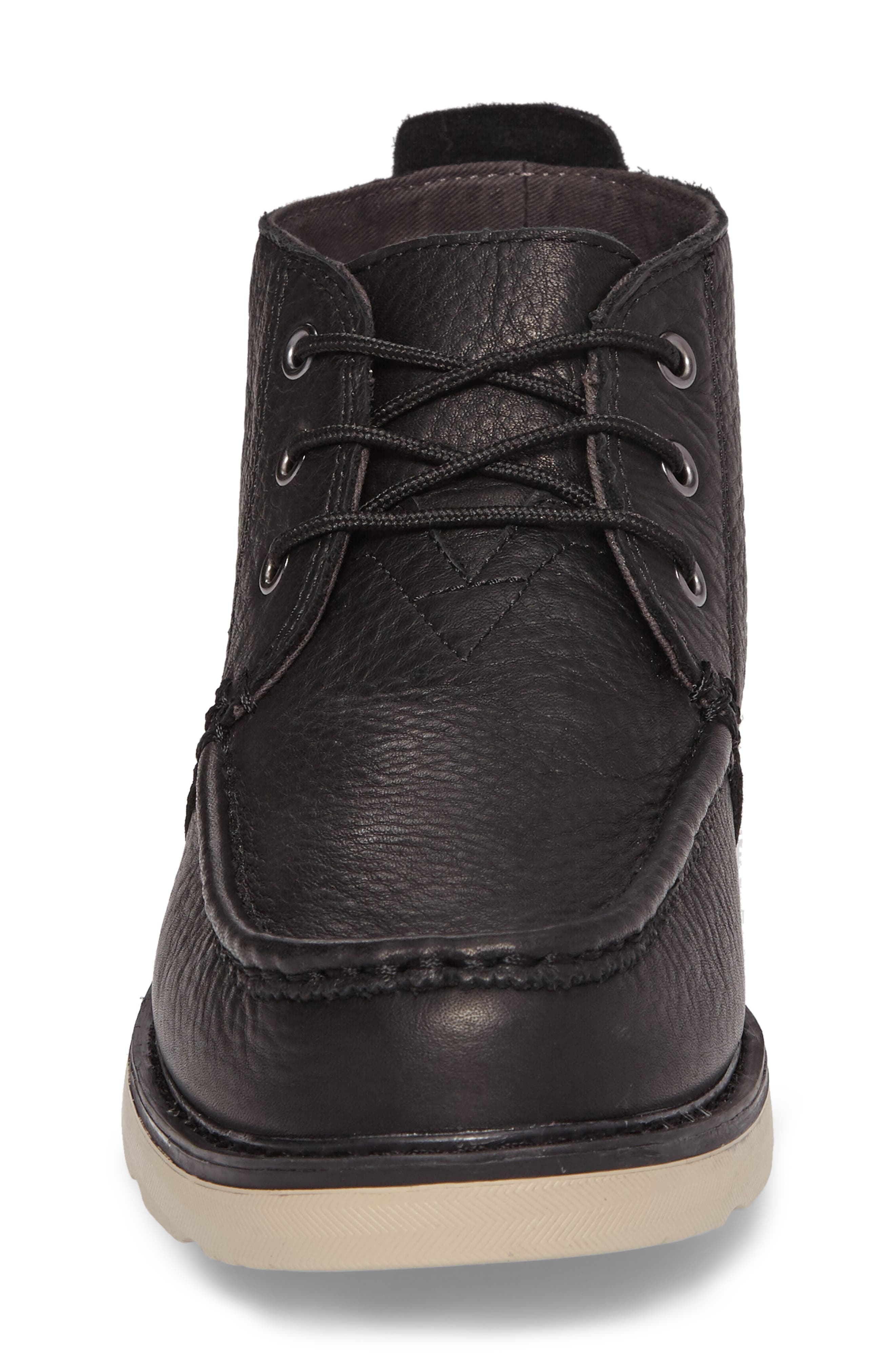 Chukka Boot,                             Alternate thumbnail 4, color,                             Black/Black Leather
