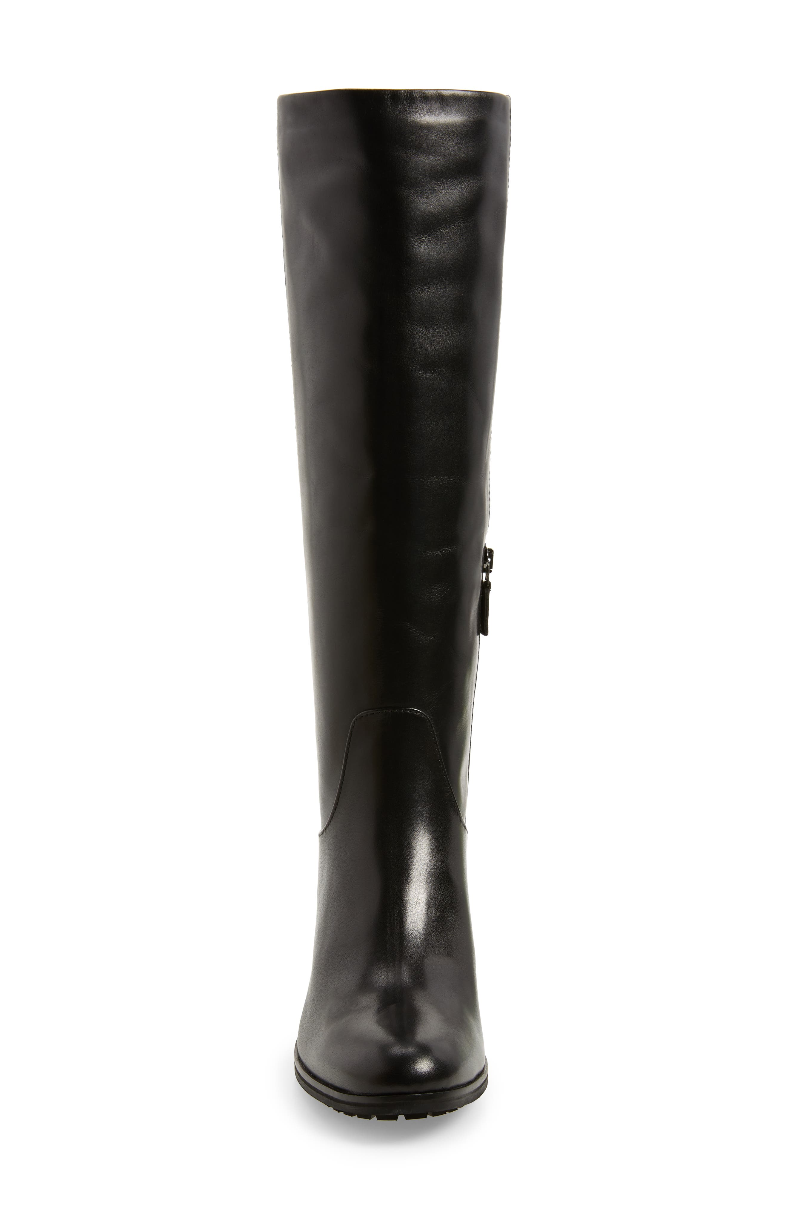 Evelin Weatherproof Knee High Boot,                             Alternate thumbnail 4, color,                             Black Calf
