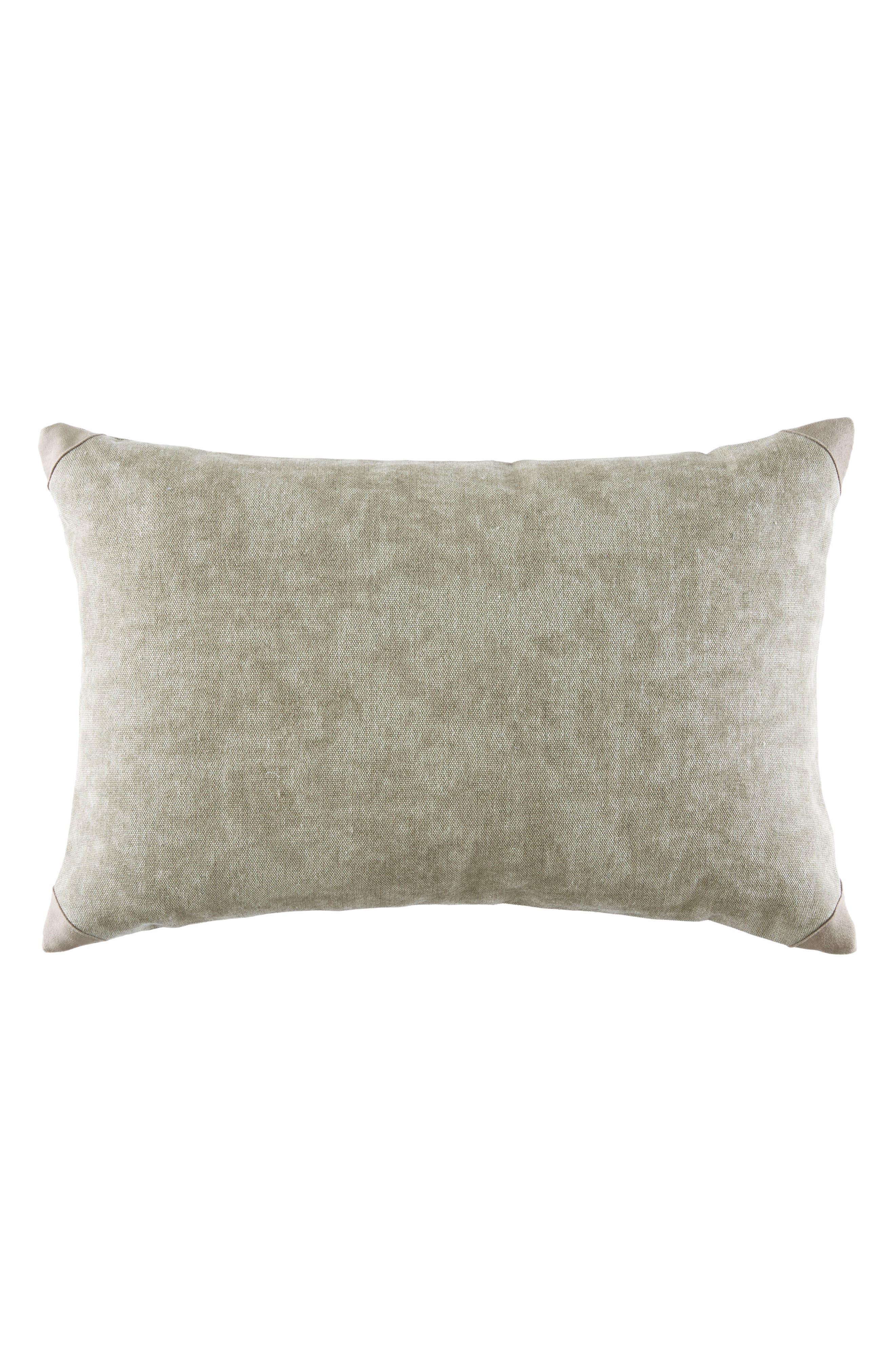 Elbow Patch Accent Pillow,                         Main,                         color, Khaki