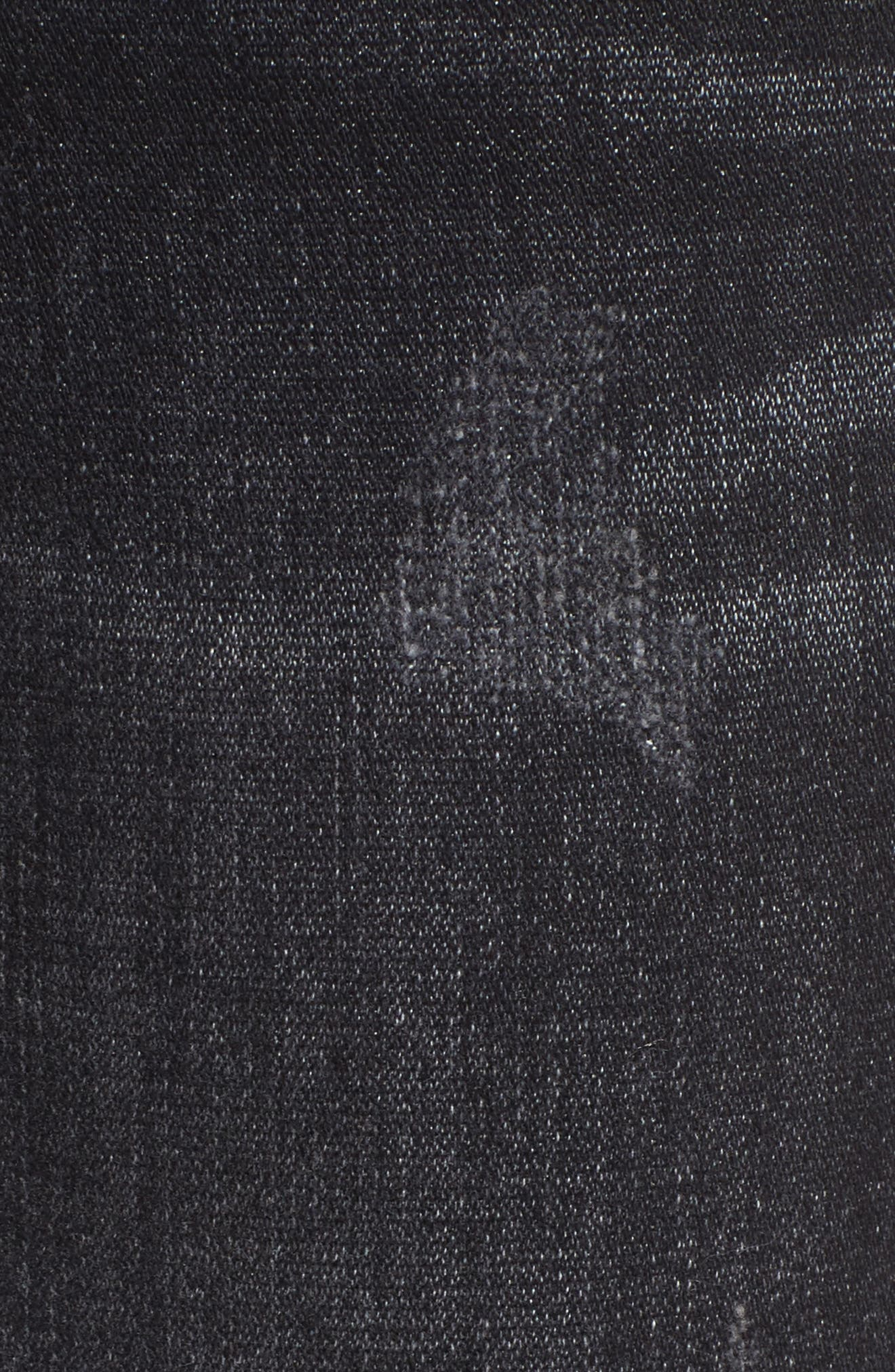 Halle Ankle Super Skinny Jeans,                             Alternate thumbnail 5, color,                             Rock Solid Wash