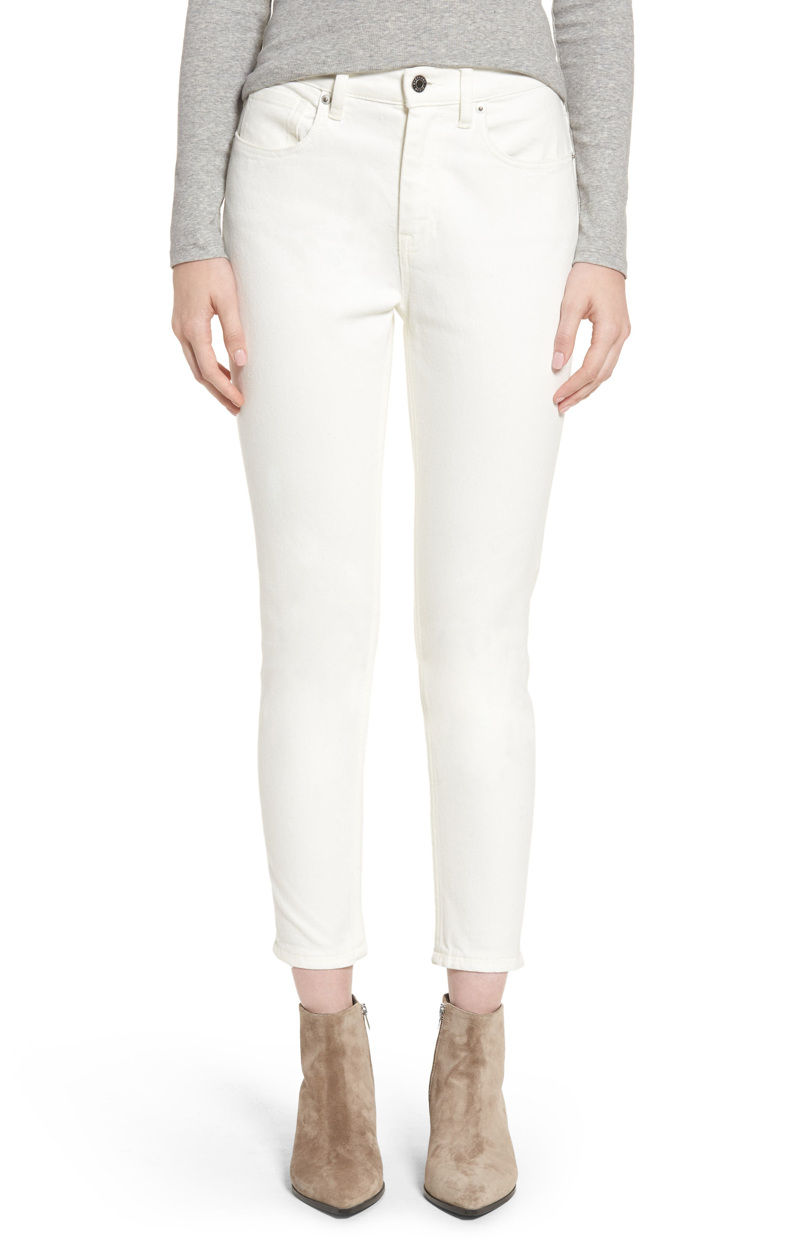 Everlane The High Rise Skinny Ankle Jeans
