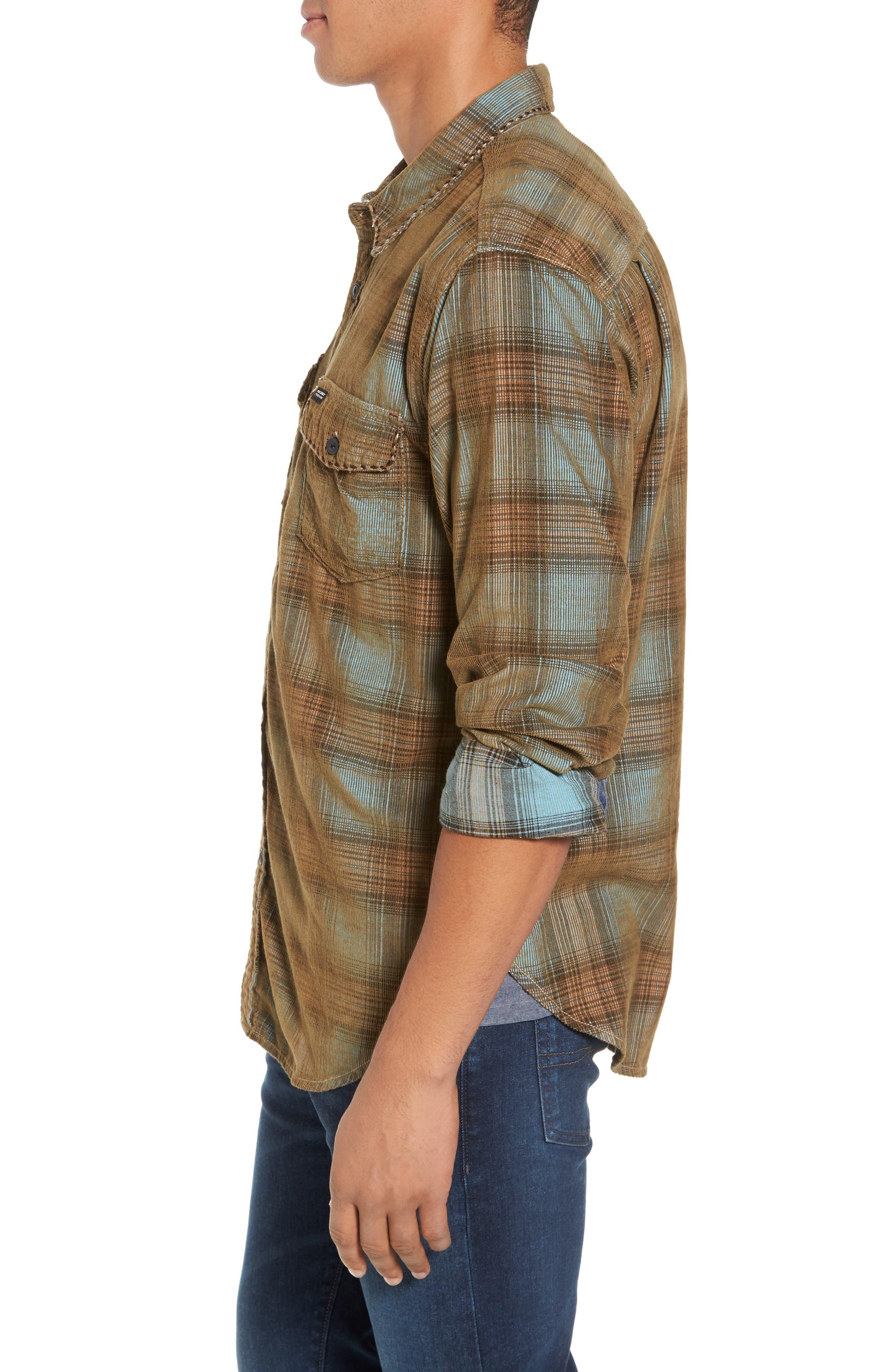 Alternate Image 3  - True Grit Ventura Vintage Slim Fit Plaid Corduroy Shirt