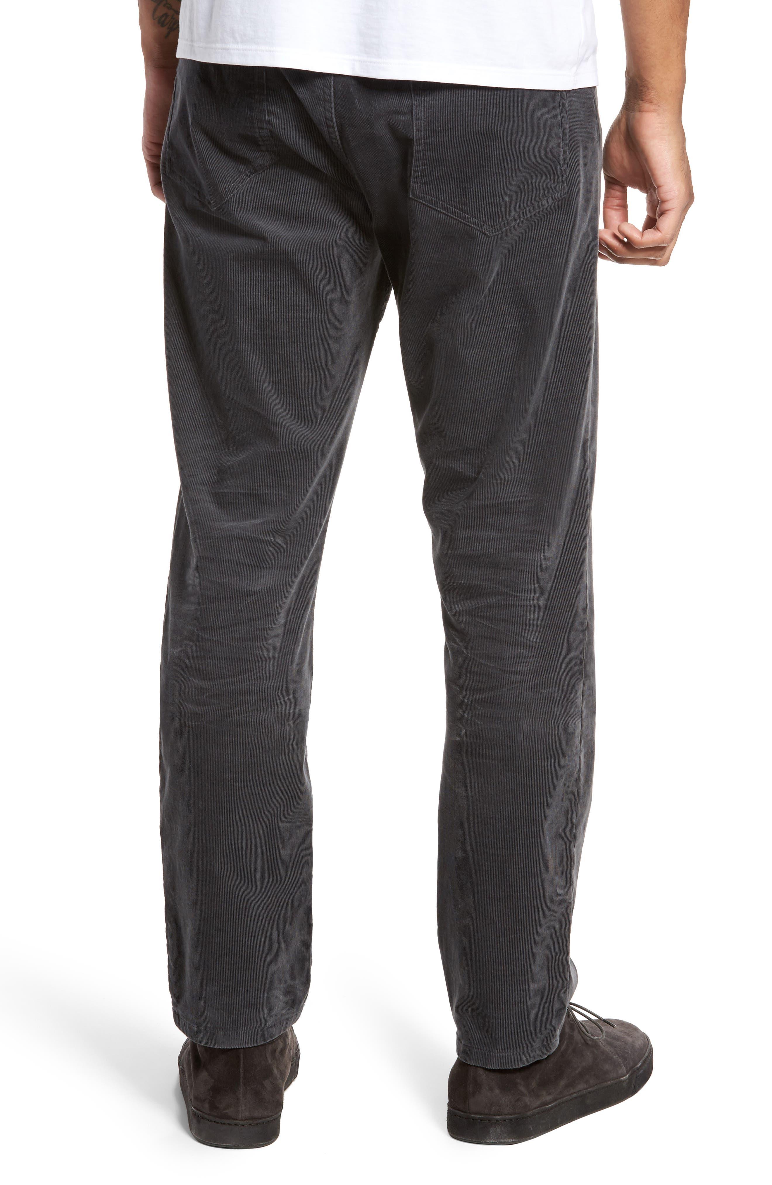 Five-Pocket Stretch Corduroy Pants,                             Alternate thumbnail 2, color,                             Granite