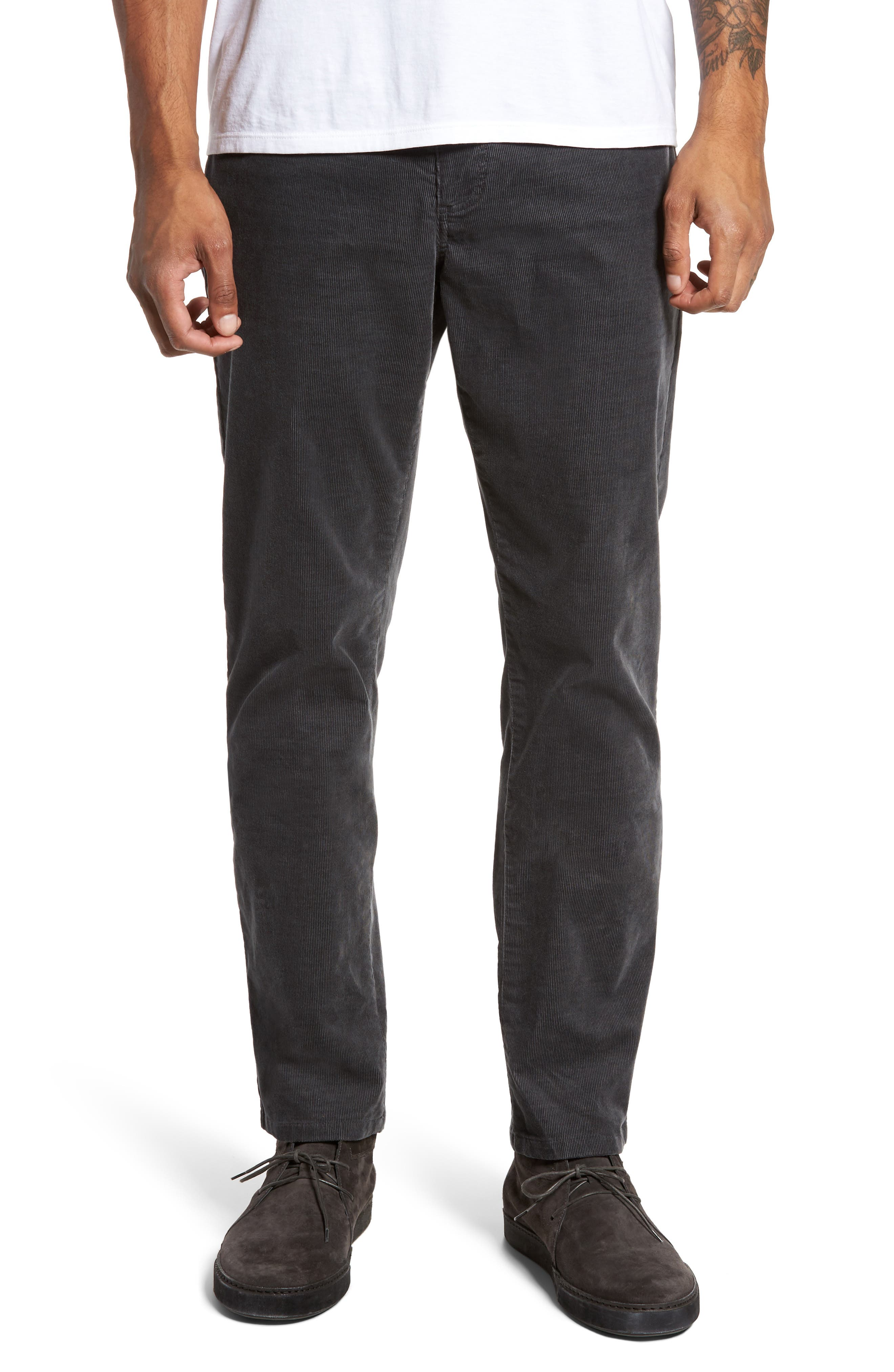 Five-Pocket Stretch Corduroy Pants,                         Main,                         color, Granite