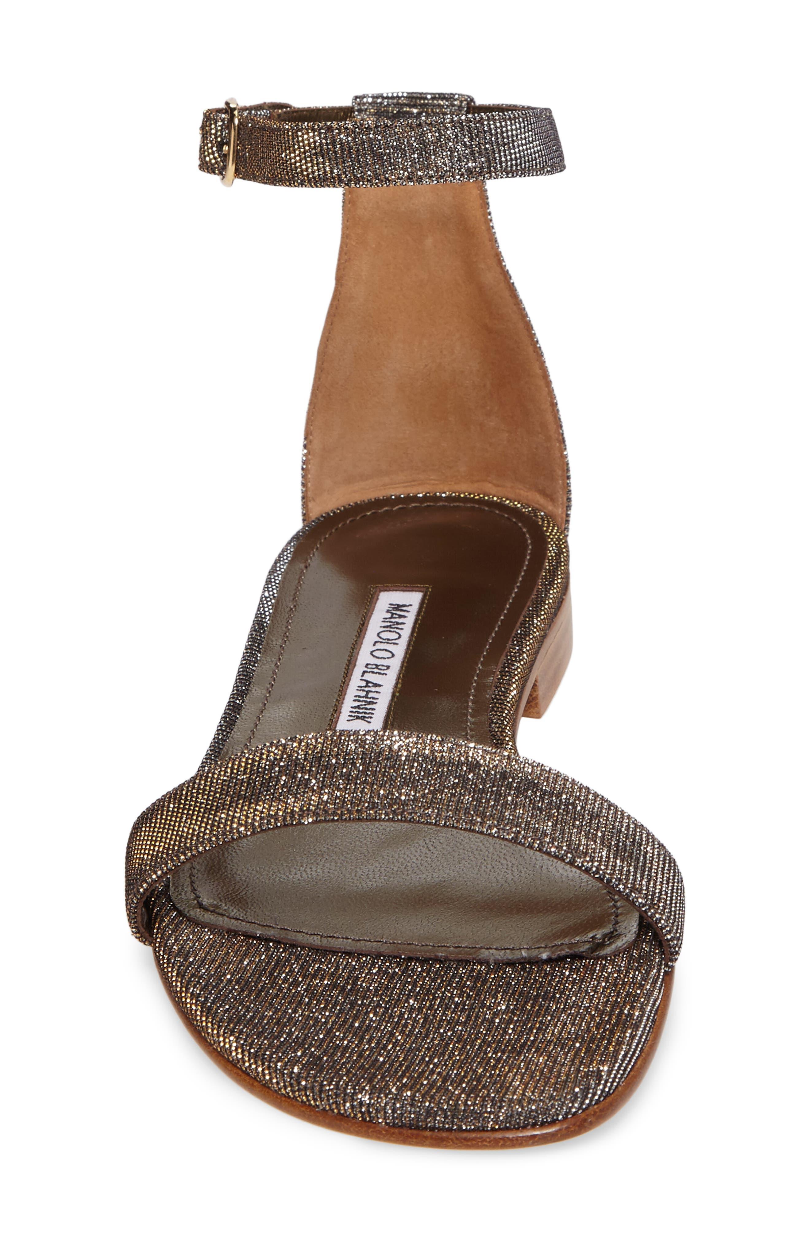 Alternate Image 5  - Manolo Blahnik Chafla Ankle Strap Sandal (Women)