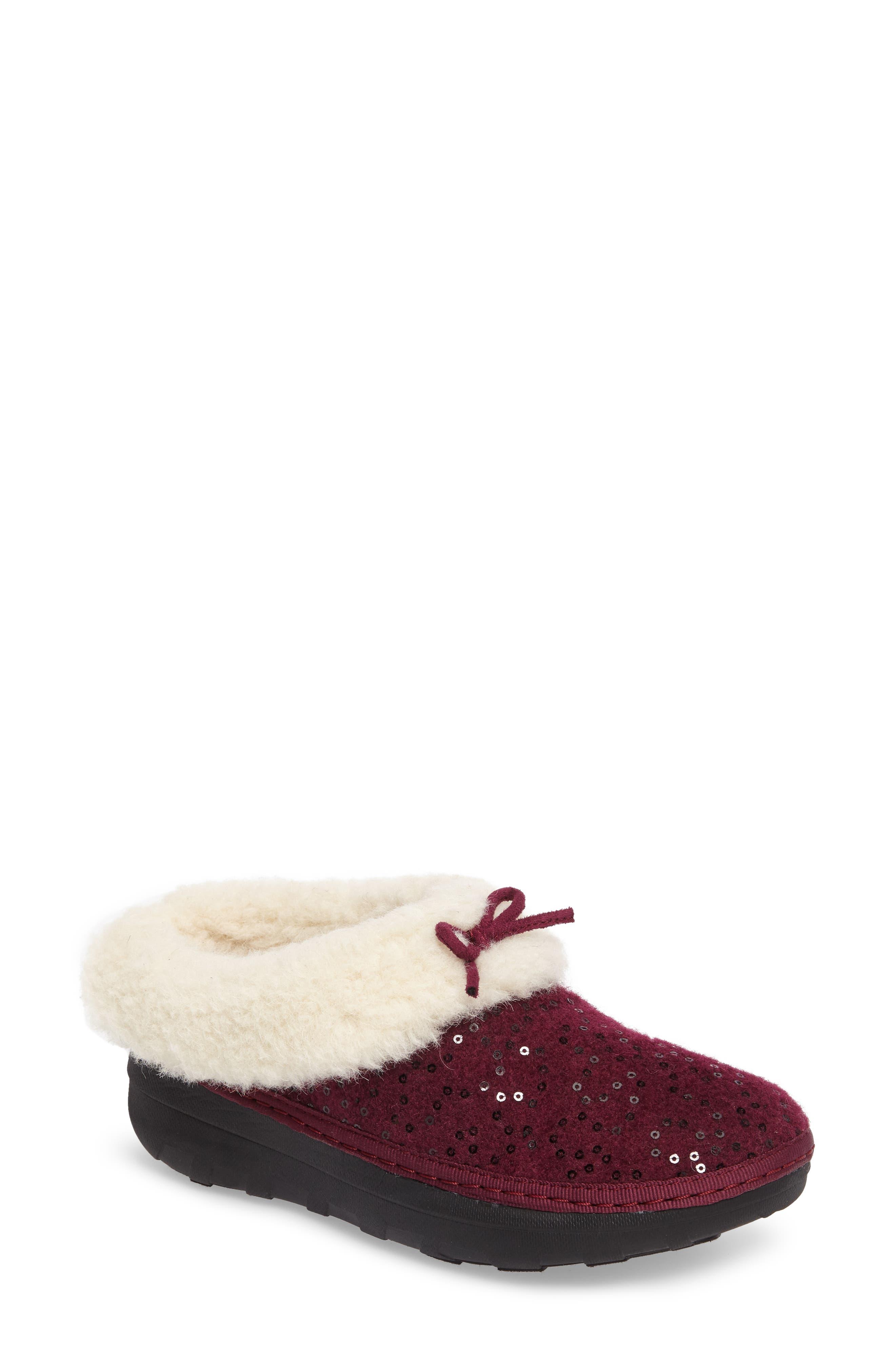Loaff Snug Sequin Slipper,                         Main,                         color, Deep Plum