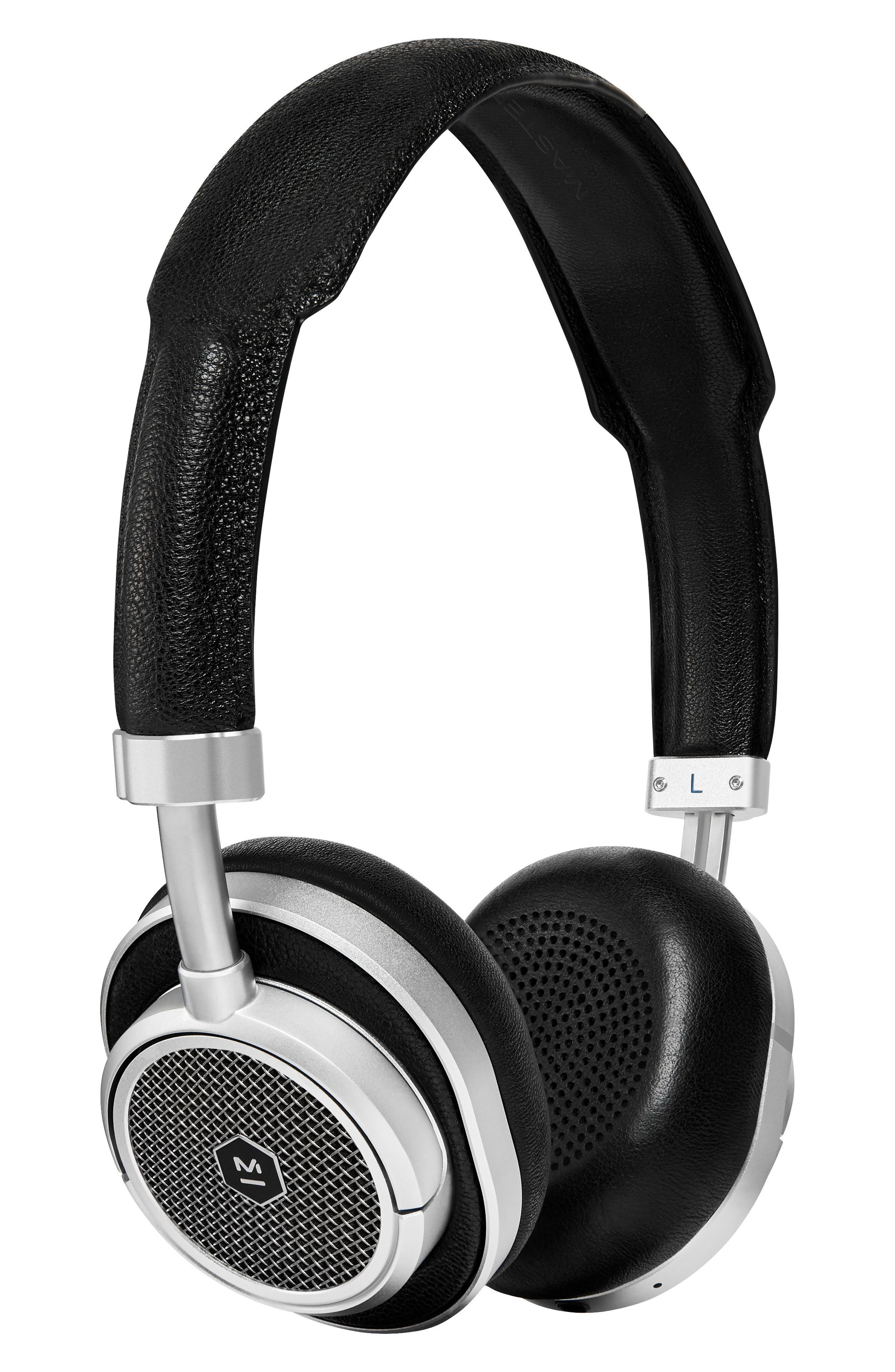 MW50 Wireless On-Ear Headphones,                             Main thumbnail 1, color,                             Black/ Silver