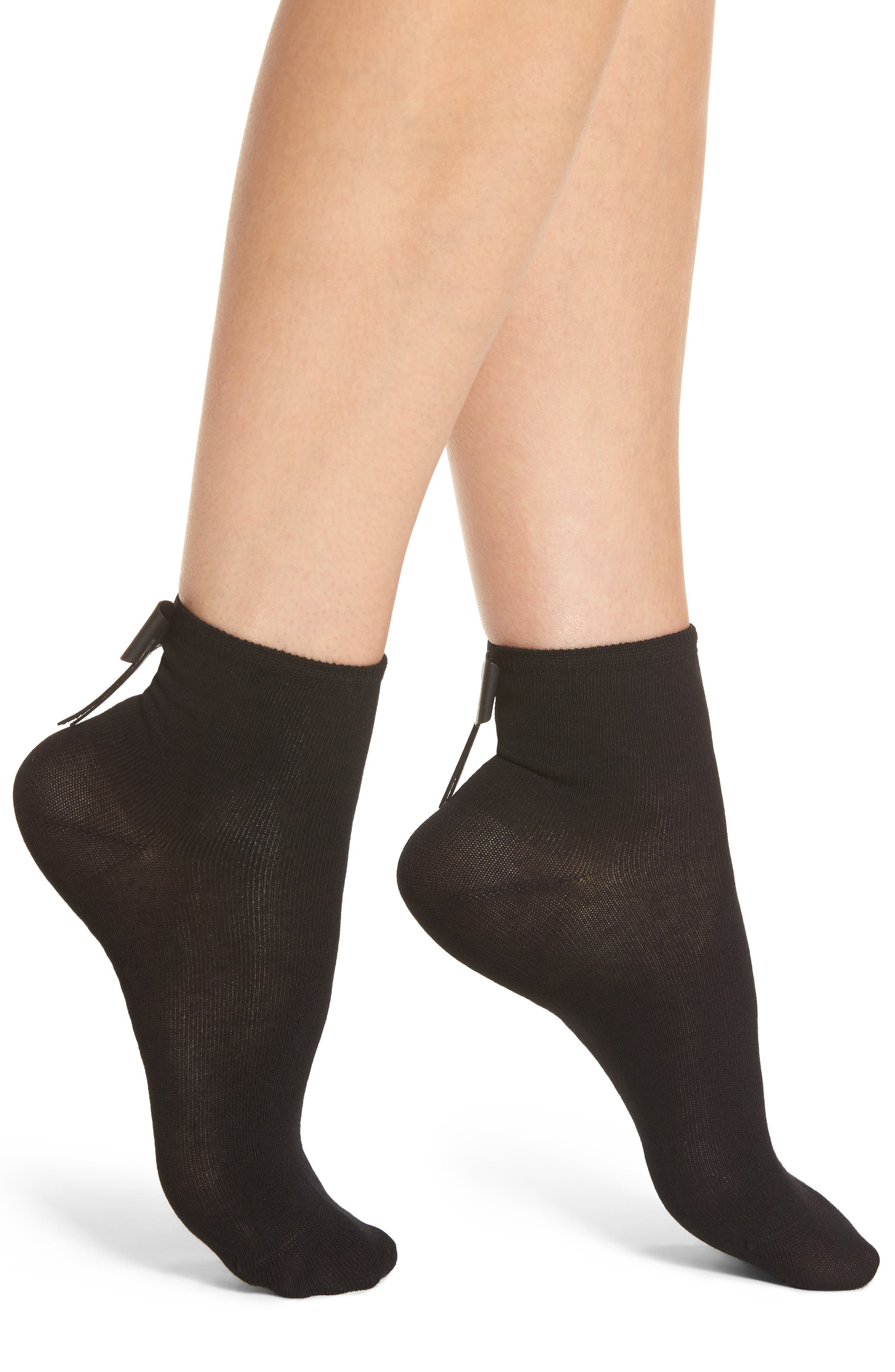 Bow Socks,                         Main,                         color, Black