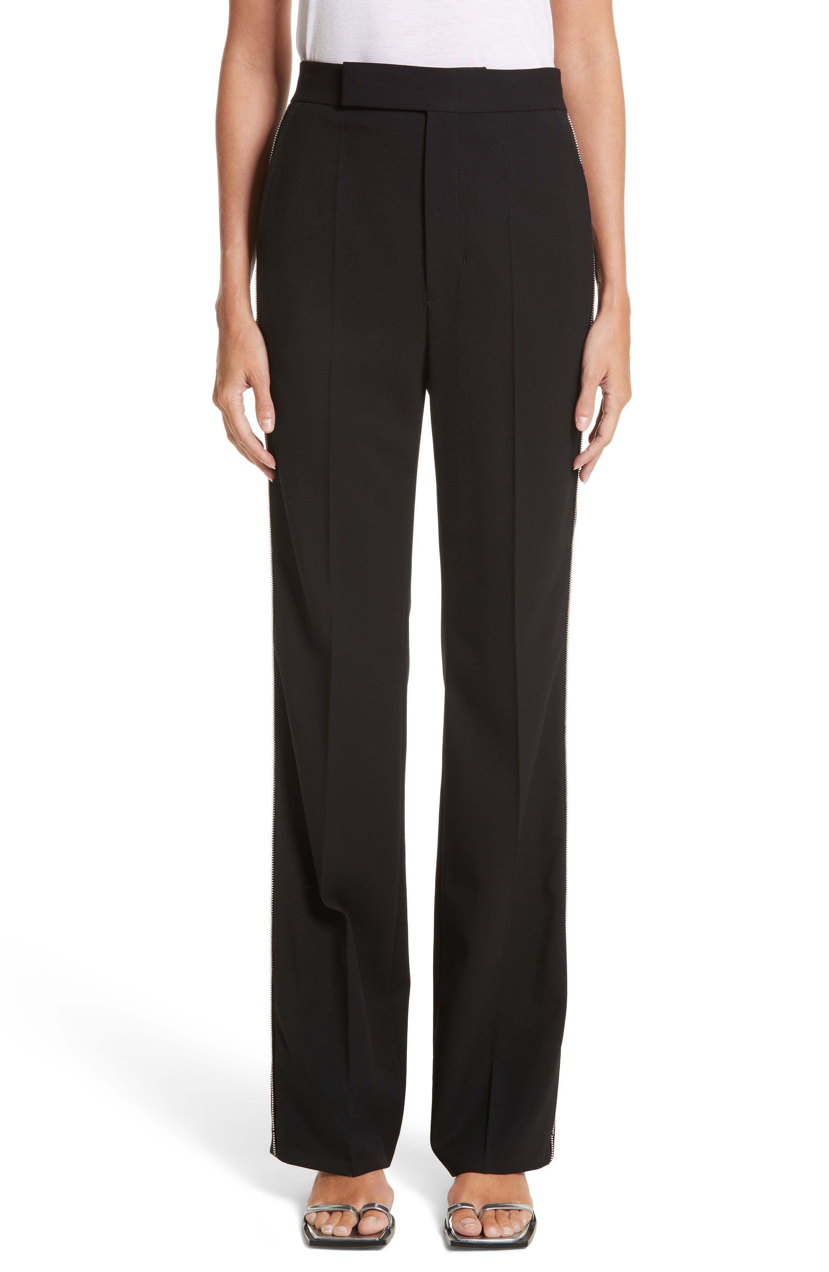 Side Zip Detail Suiting Pants,                             Main thumbnail 1, color,                             Black