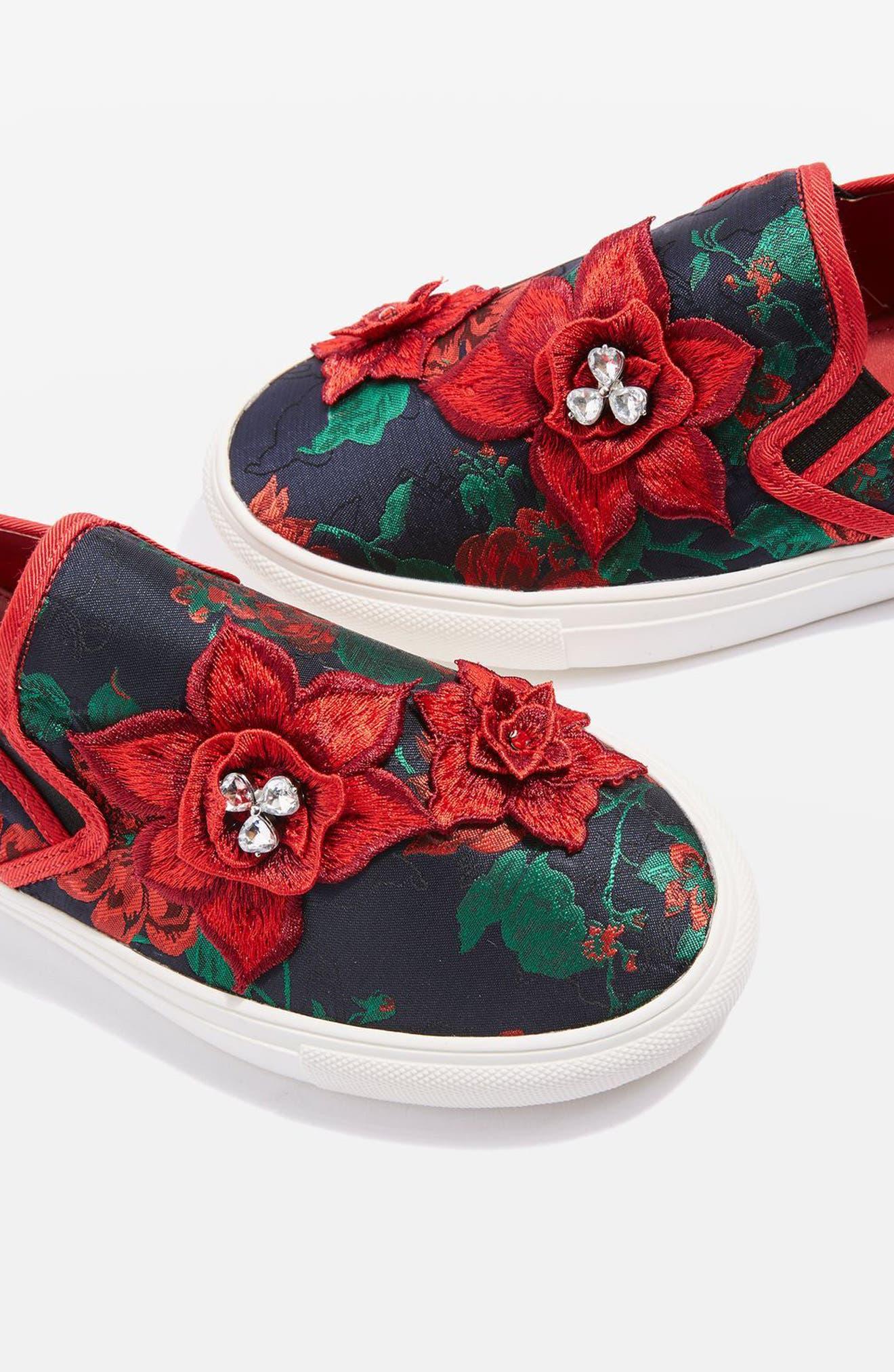 Alternate Image 7  - Topshop Tessa Embroidered Slip-On Sneaker (Women)