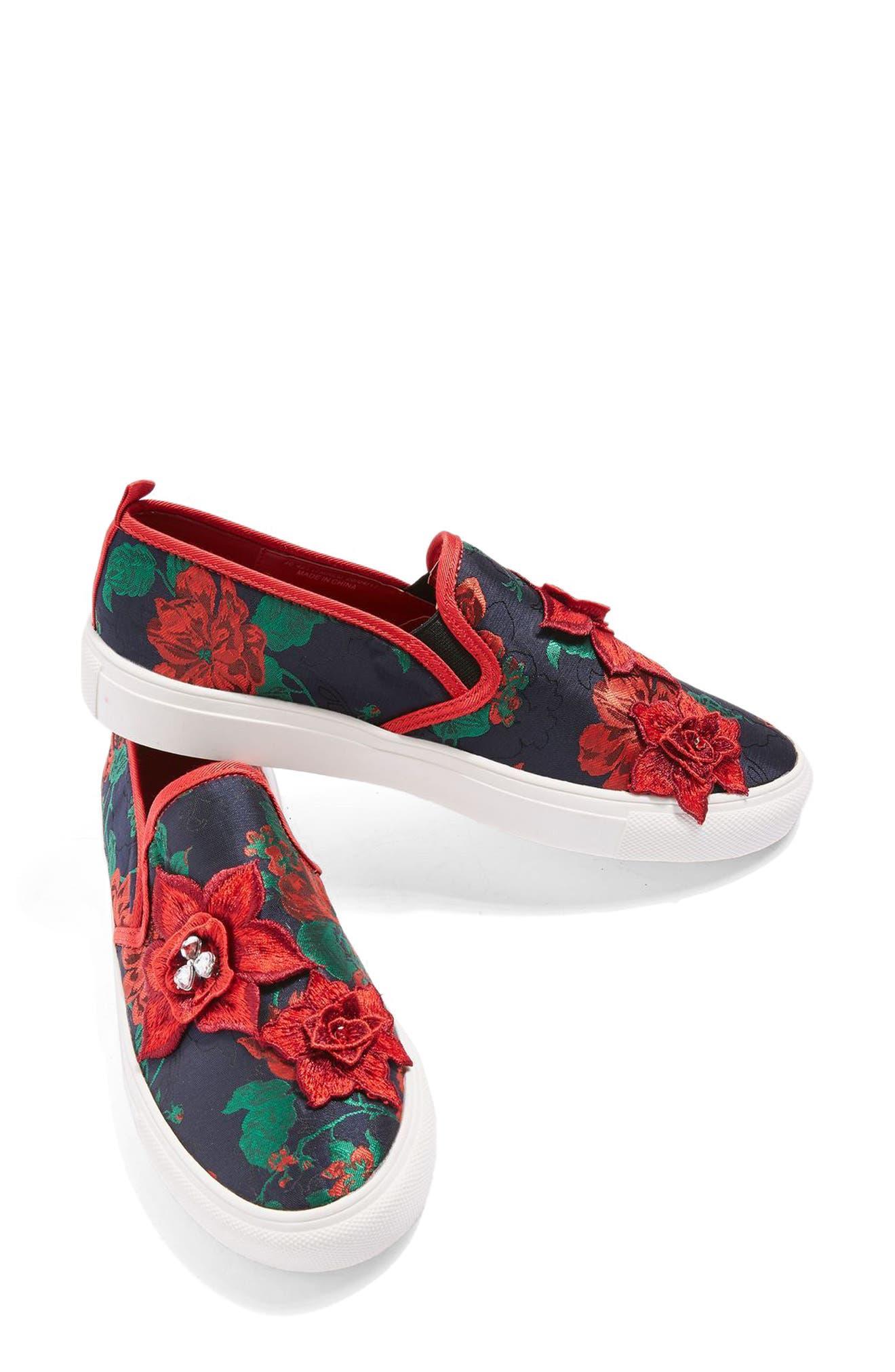 Alternate Image 8  - Topshop Tessa Embroidered Slip-On Sneaker (Women)