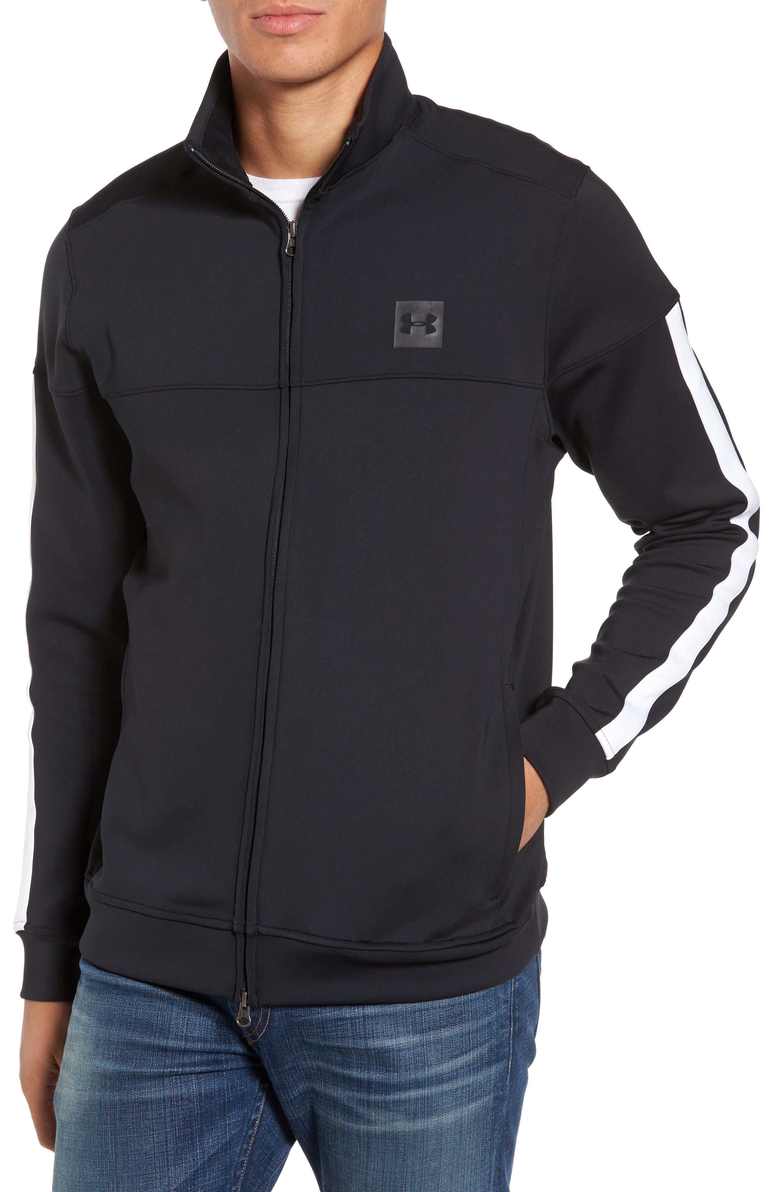 Sportstyle Track Jacket,                         Main,                         color, Black / / Black