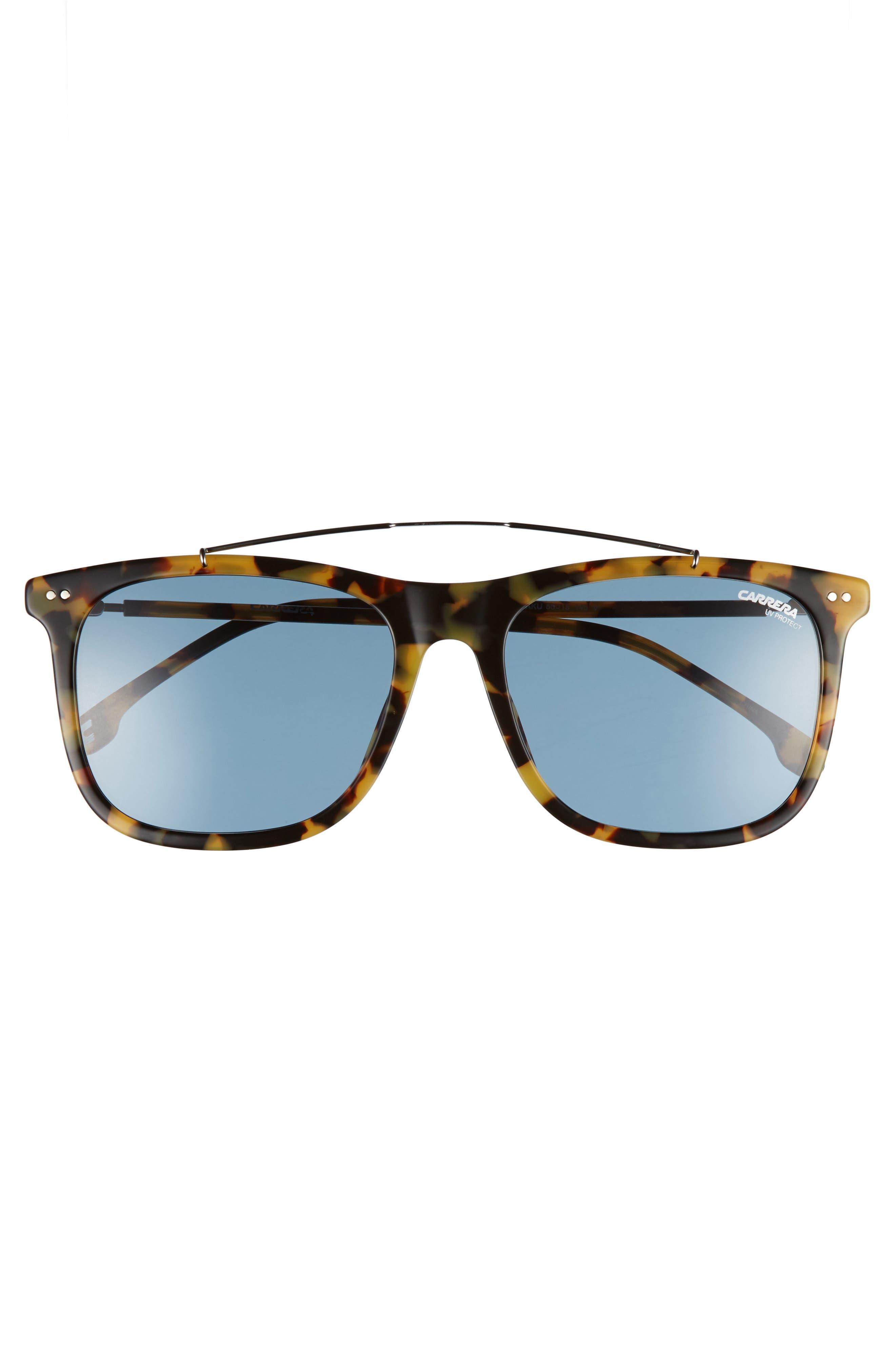 Carrera 150/S 55mm Sunglasses,                             Alternate thumbnail 2, color,                             Havana Ruthenium/ Blue Avio