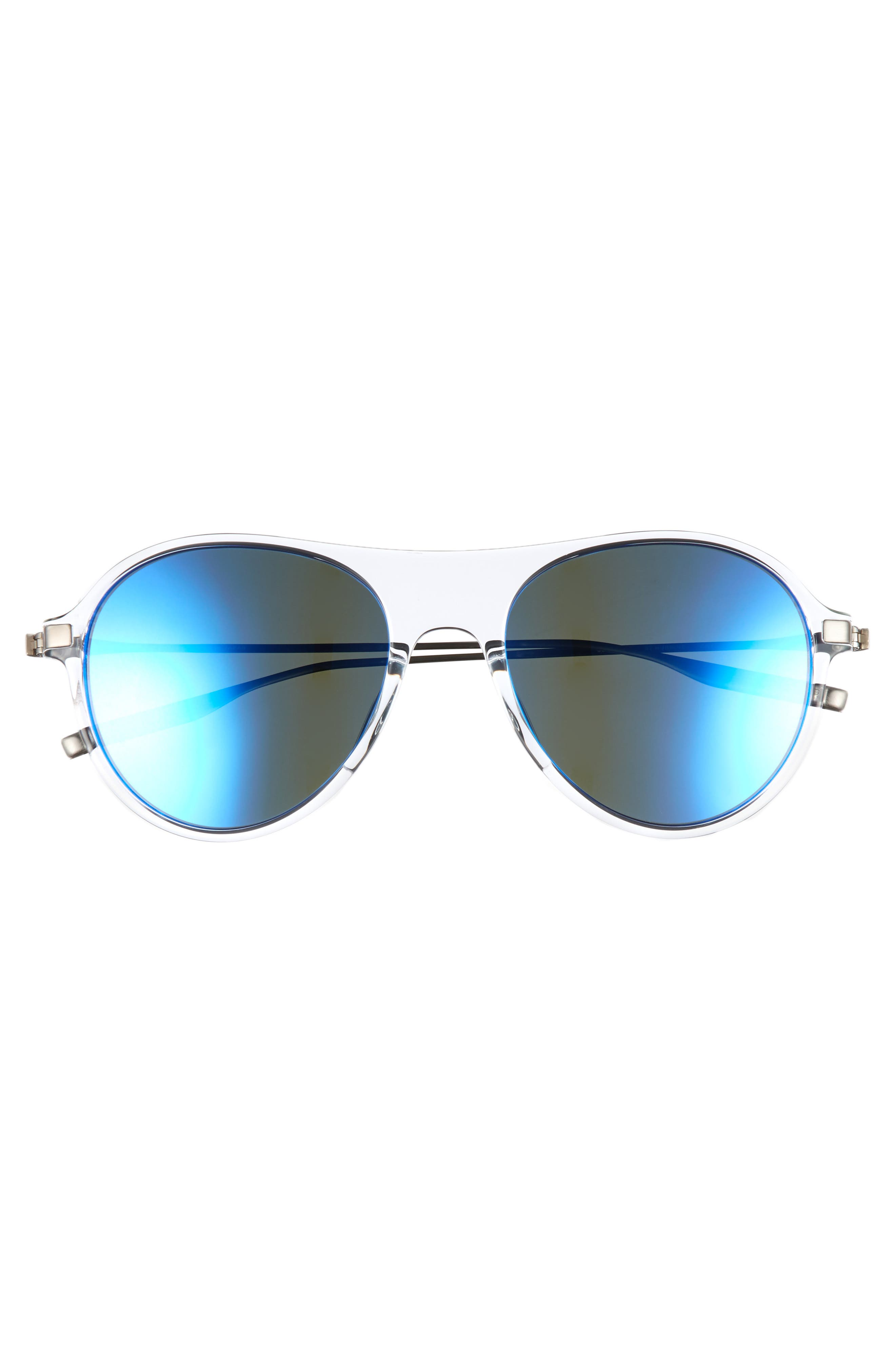 St. Hubbins 55mm Polarized Sunglasses,                             Alternate thumbnail 2, color,                             Crystal / Tempest