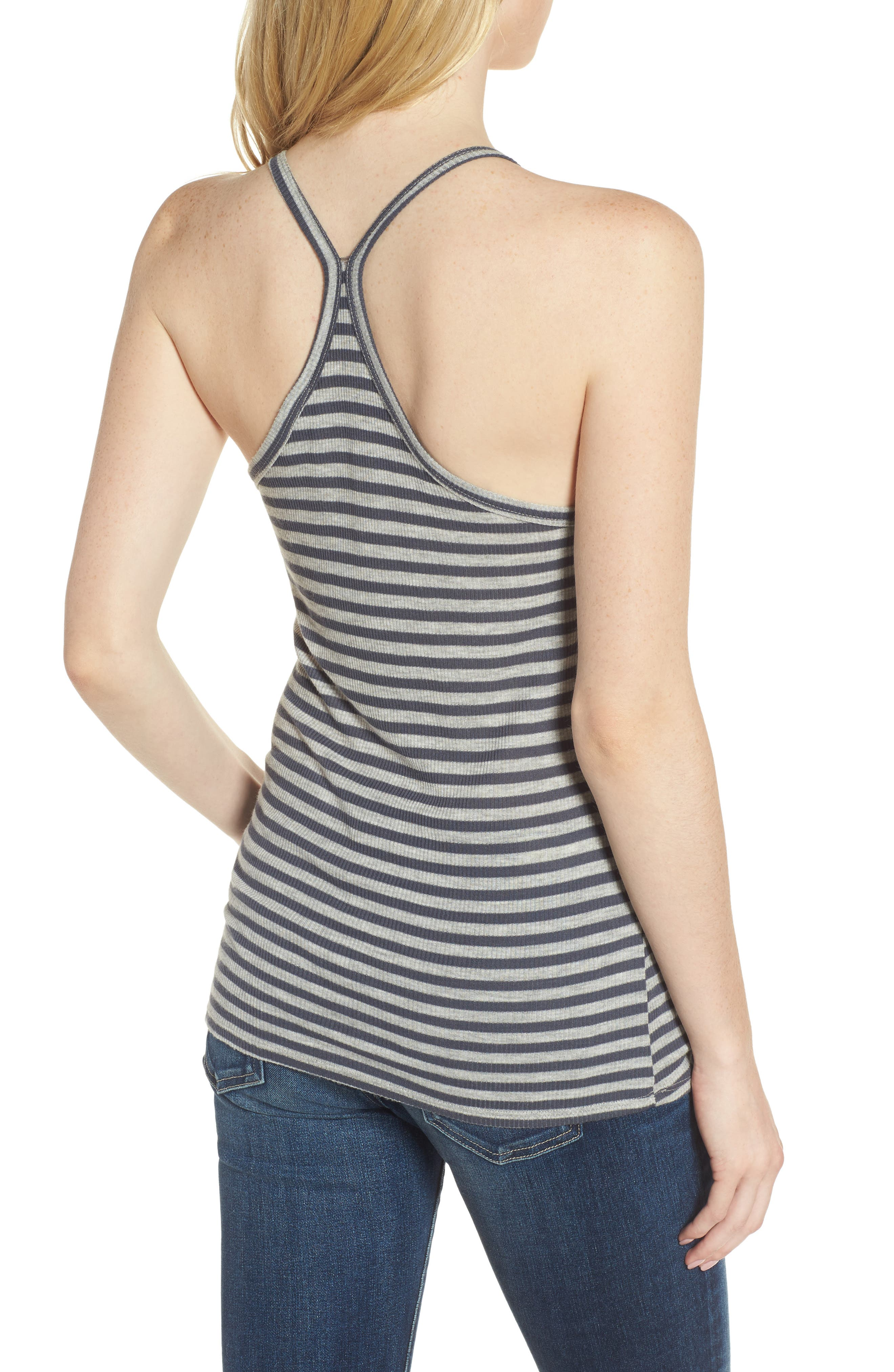 Rima Tank,                             Alternate thumbnail 2, color,                             Blueberry/ Heather Grey