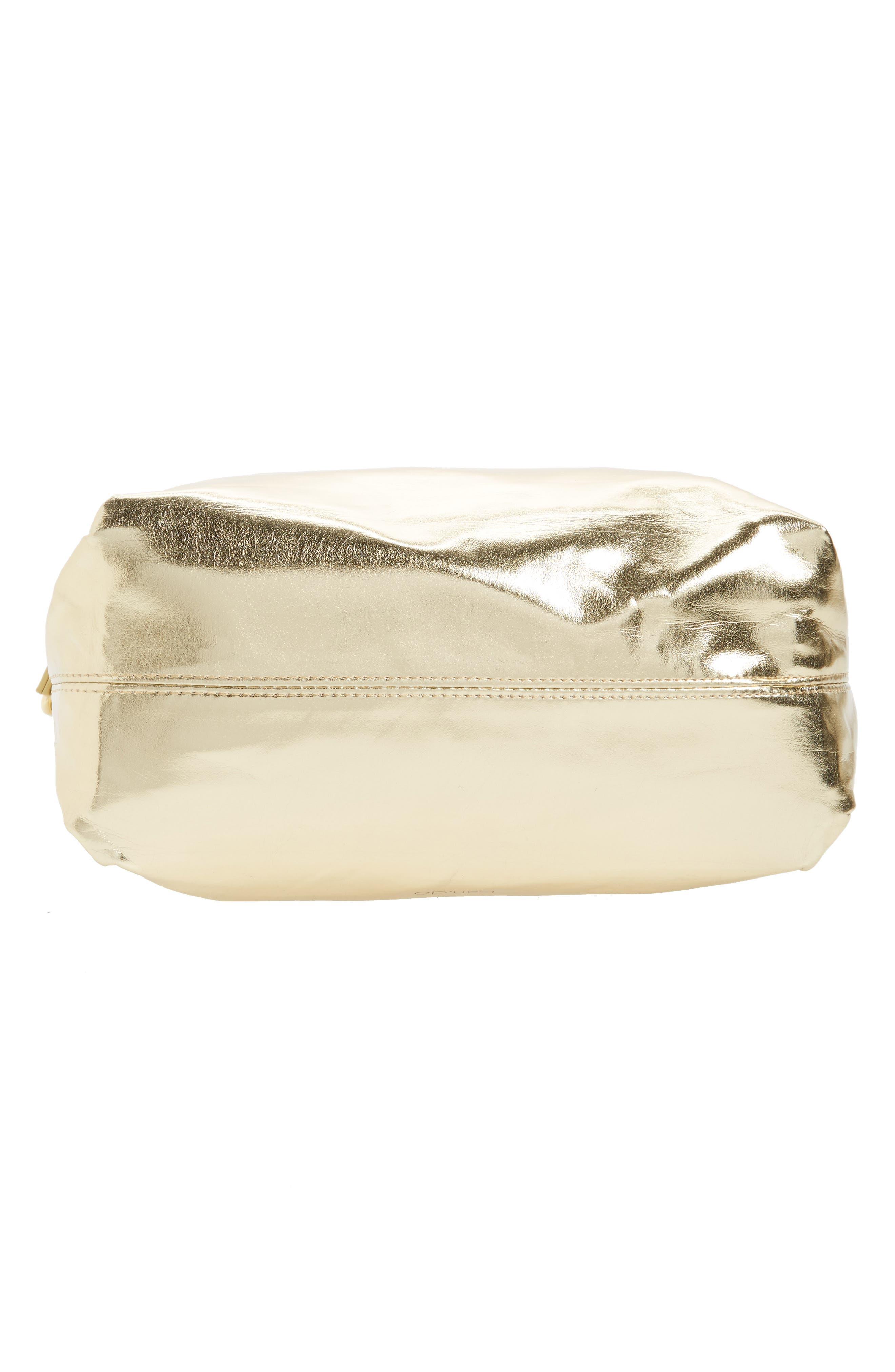 Crossbody Lunch Bag,                             Alternate thumbnail 6, color,                             Metallic Gold