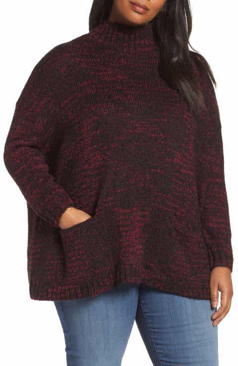 Sejour Mock Neck Knit Sweater (Plus Size)
