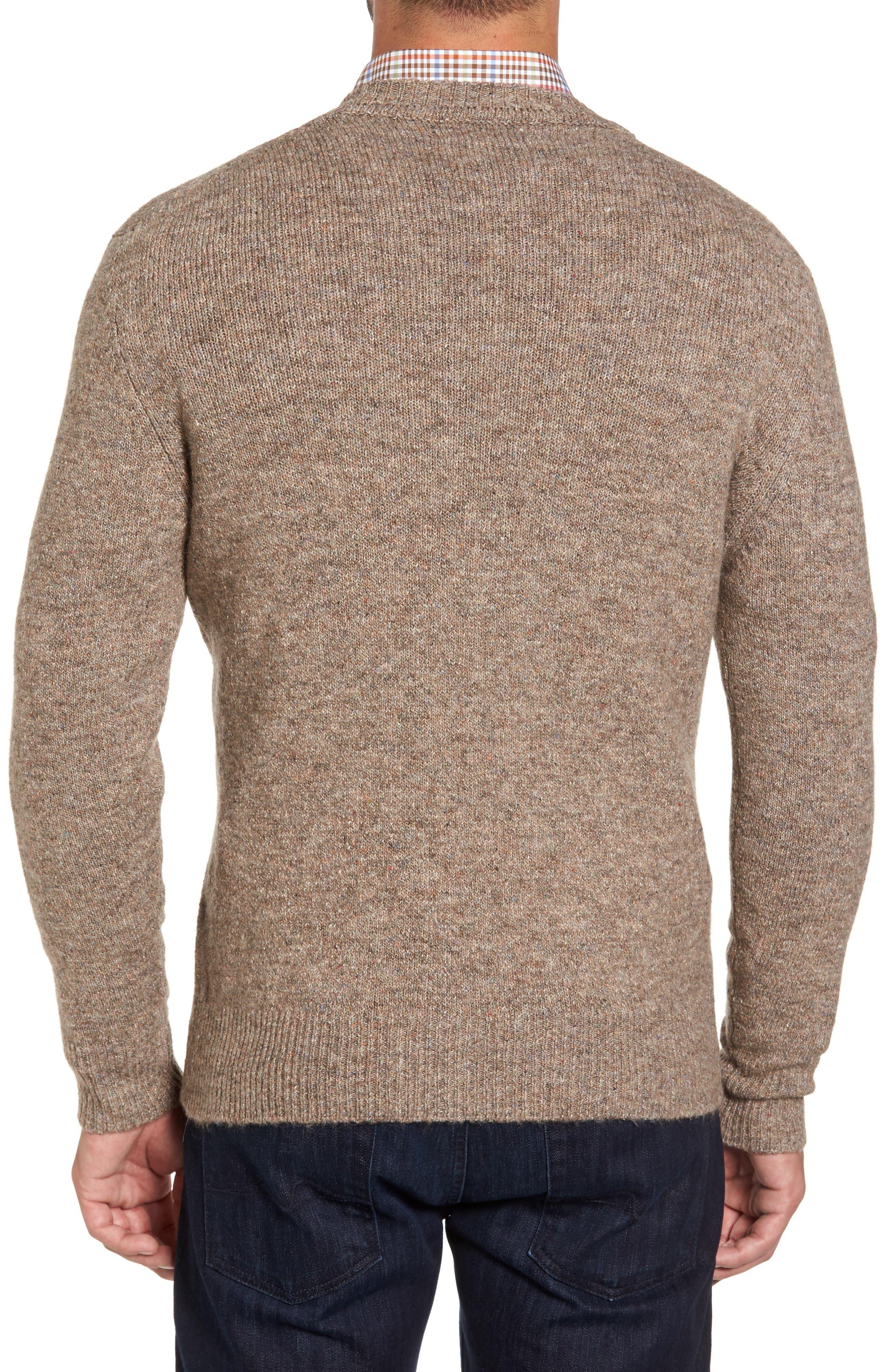 Tweed Crewneck Sweater,                             Alternate thumbnail 2, color,                             Sand