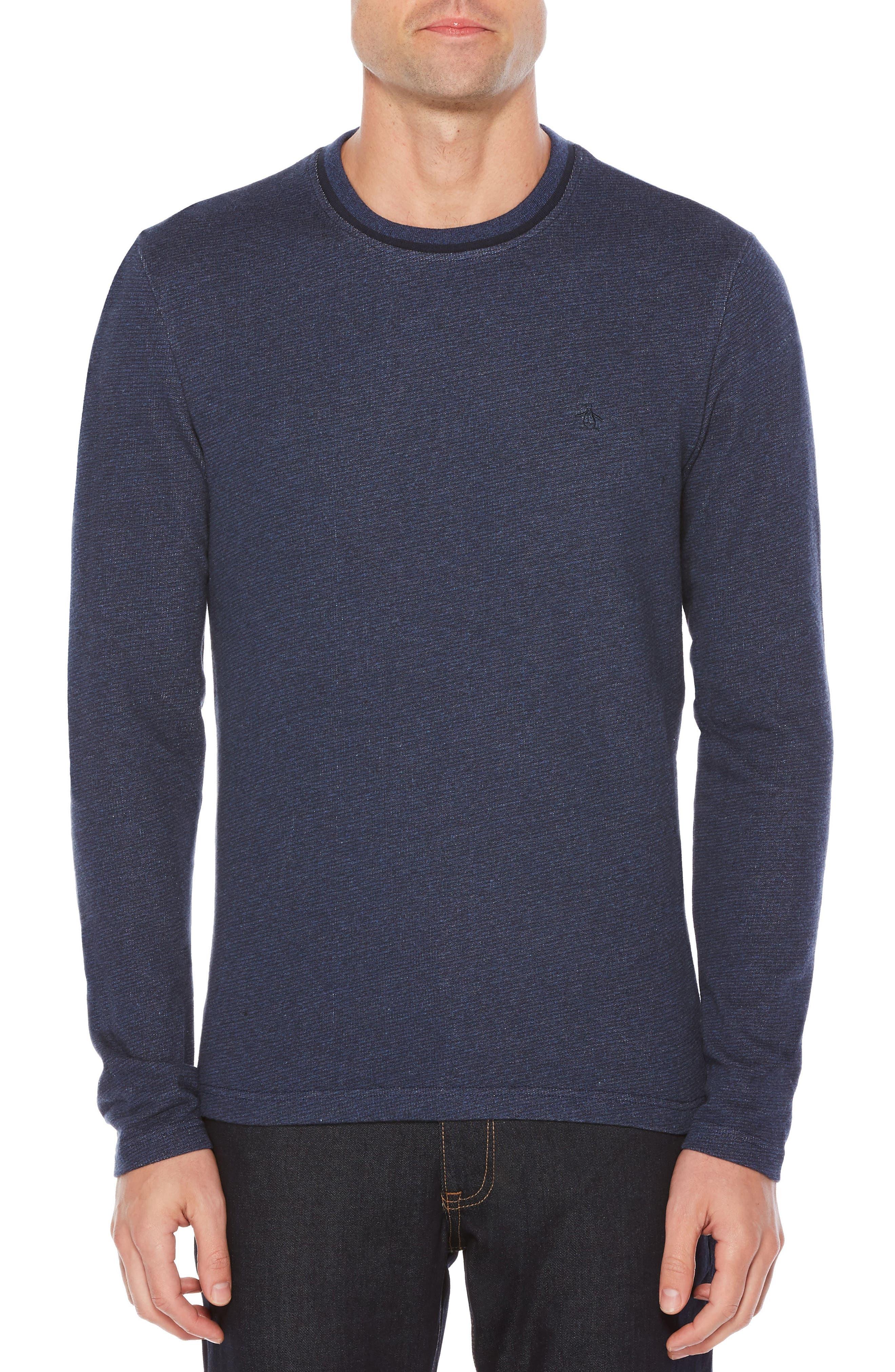 Main Image - Original Penguin Jaspé Terry Long Sleeve T-Shirt