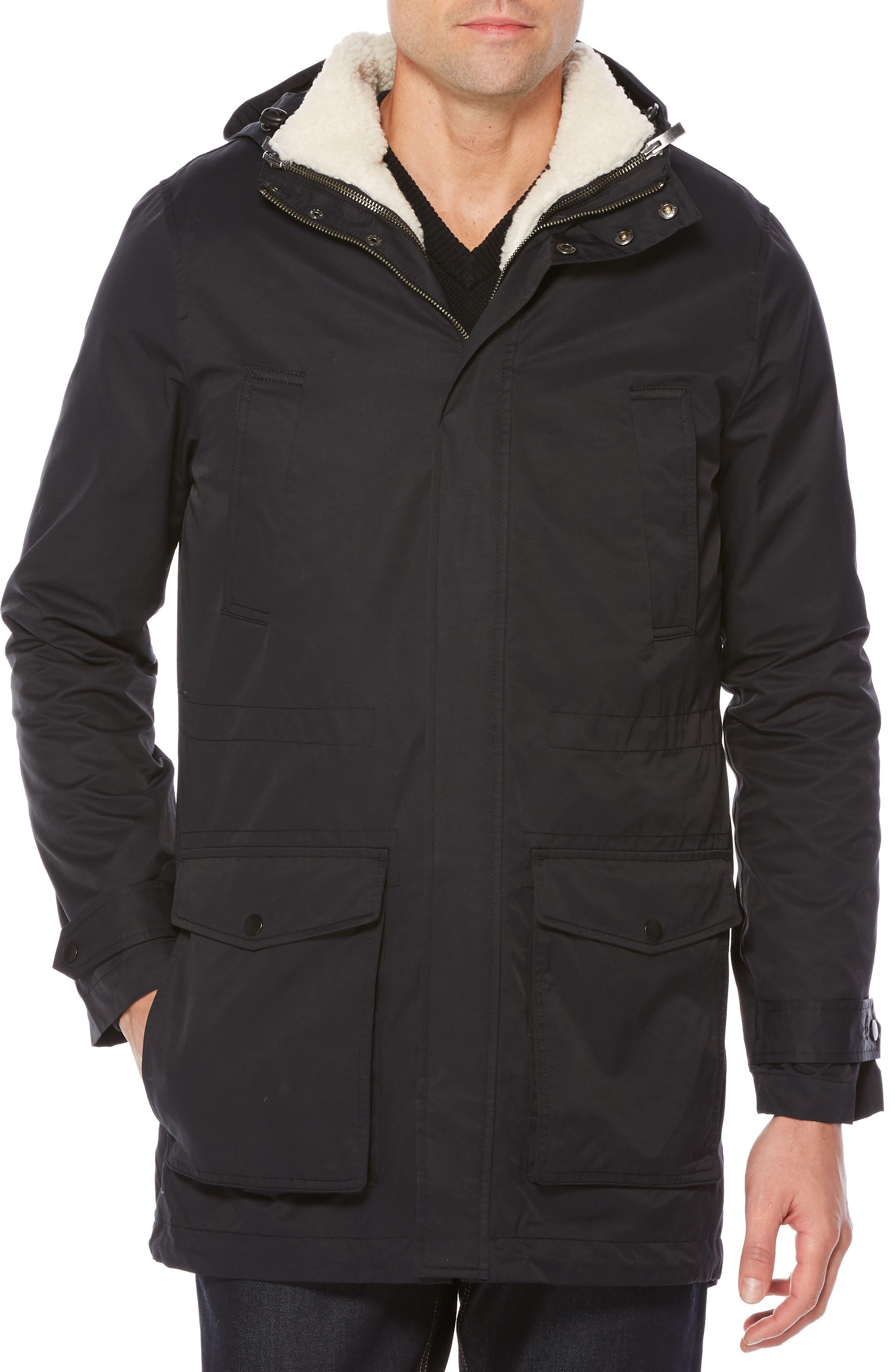 4-in-1 Water Resistant Jacket,                         Main,                         color, True Black