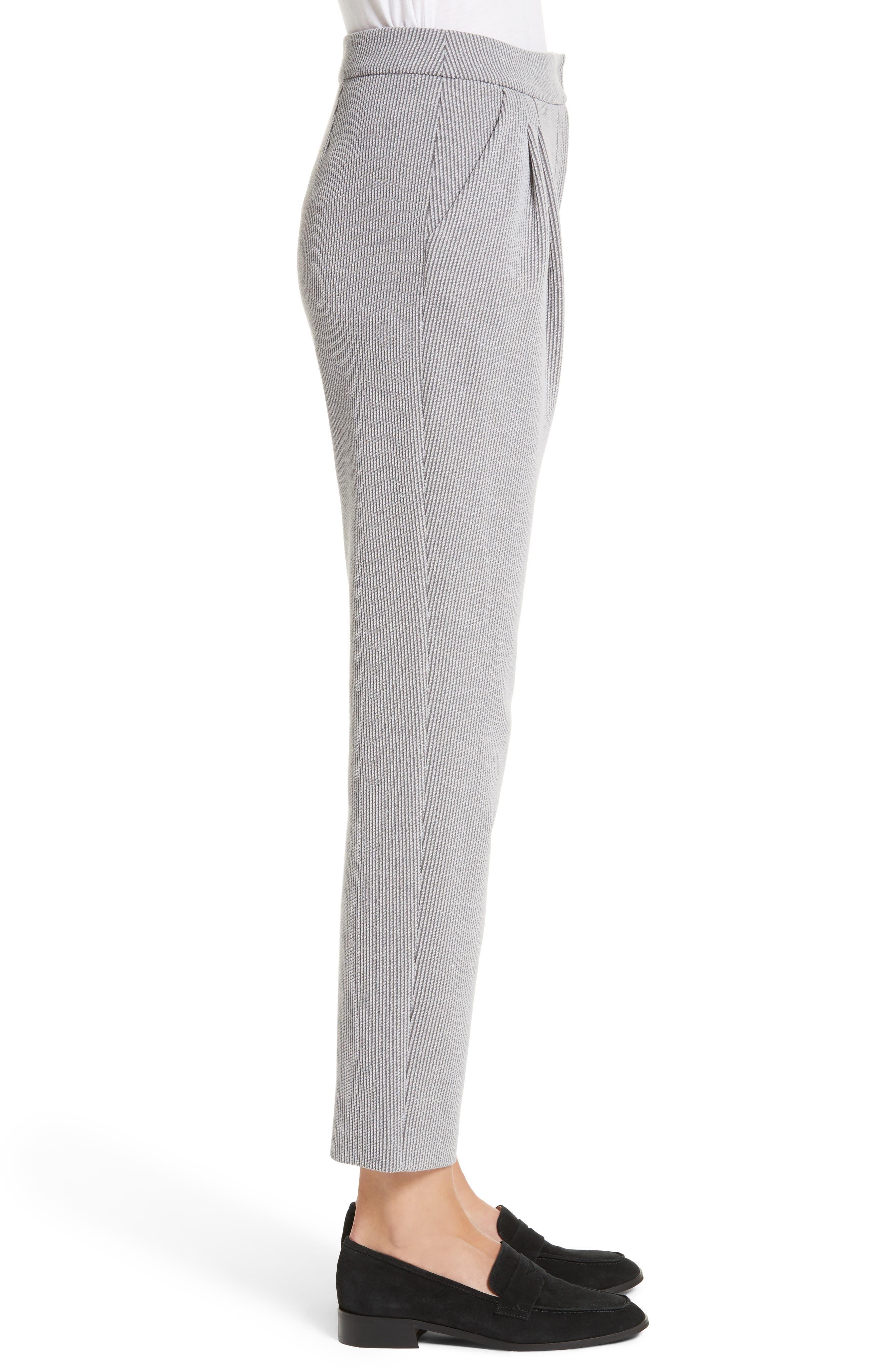 Pleated Stripe Jacquard Pants,                             Alternate thumbnail 3, color,                             Grey Multi