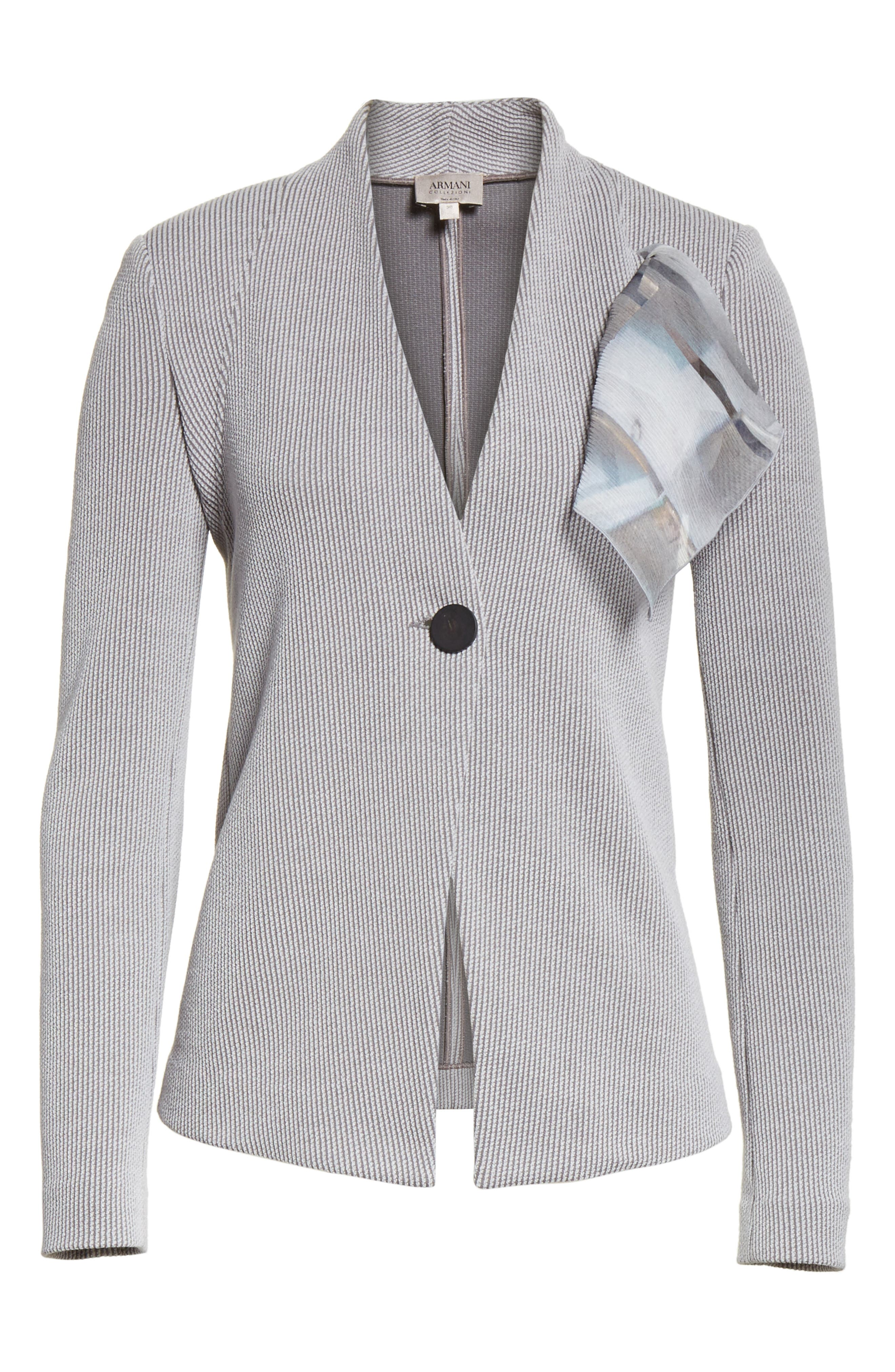 Stripe Jacquard Jacket,                             Alternate thumbnail 8, color,                             Grey Multi