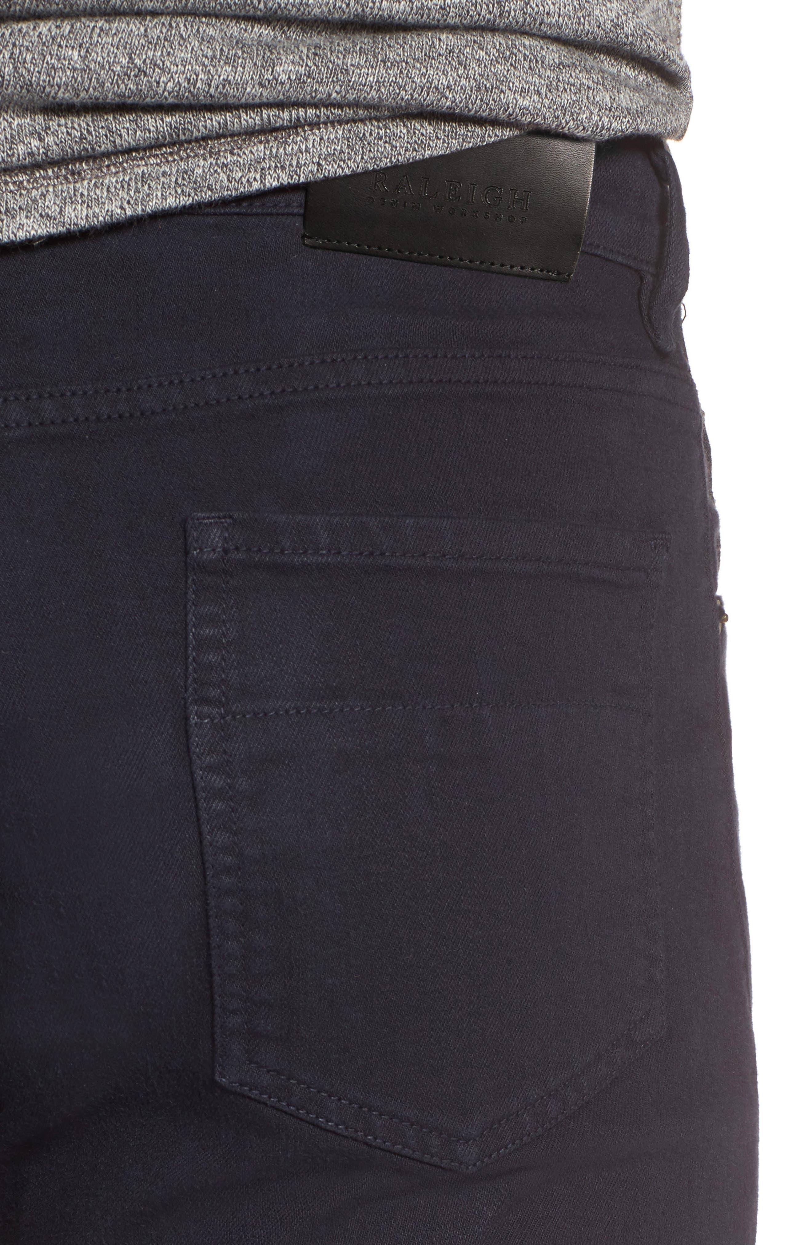 Alternate Image 4  - Raleigh Denim Alexander Straight Leg Jeans (Stretch Dark Fathom)