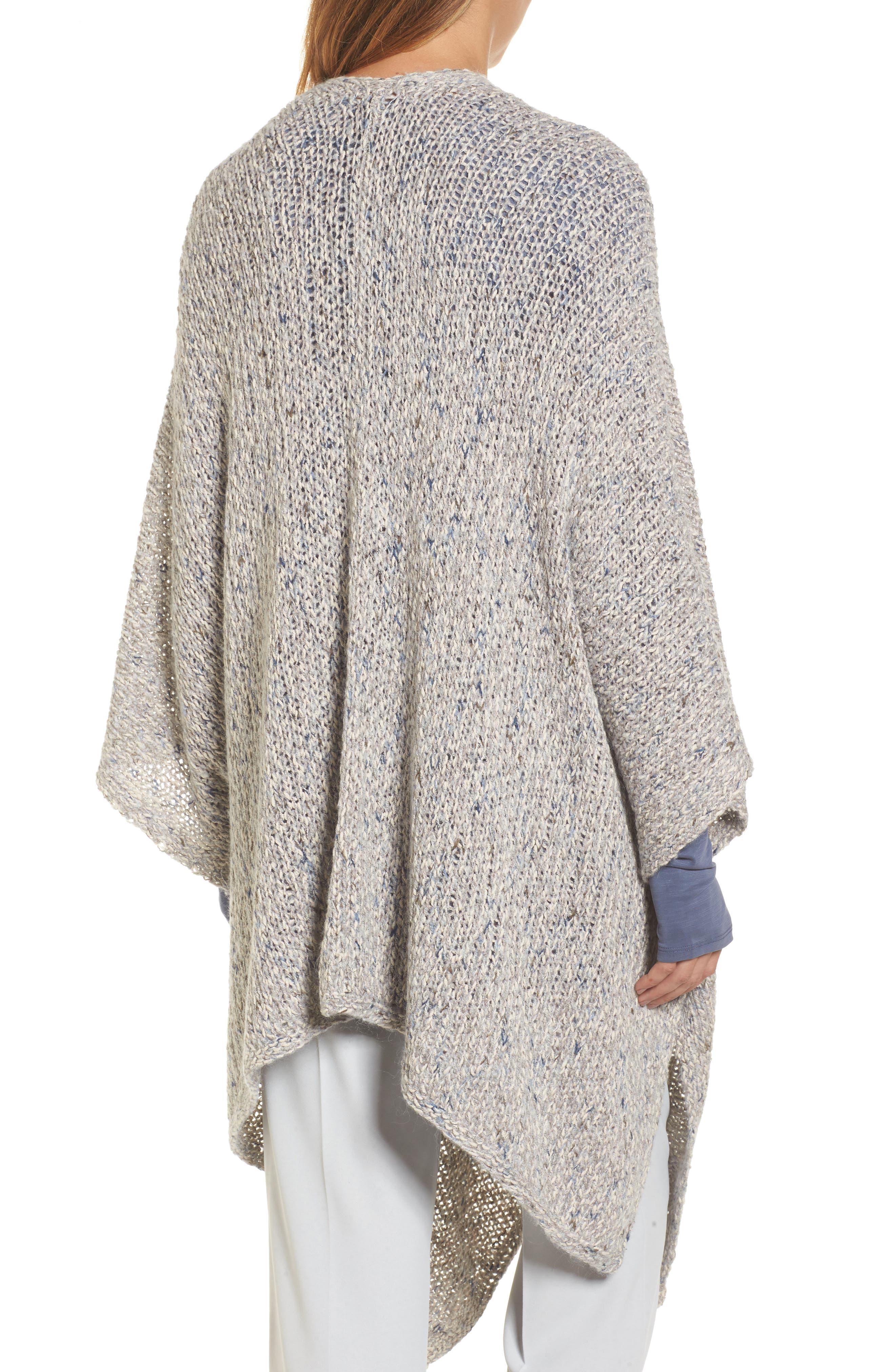 Alternate Image 2  - NIC+ZOE Luna Cotton Blend Knit Wrap Cape