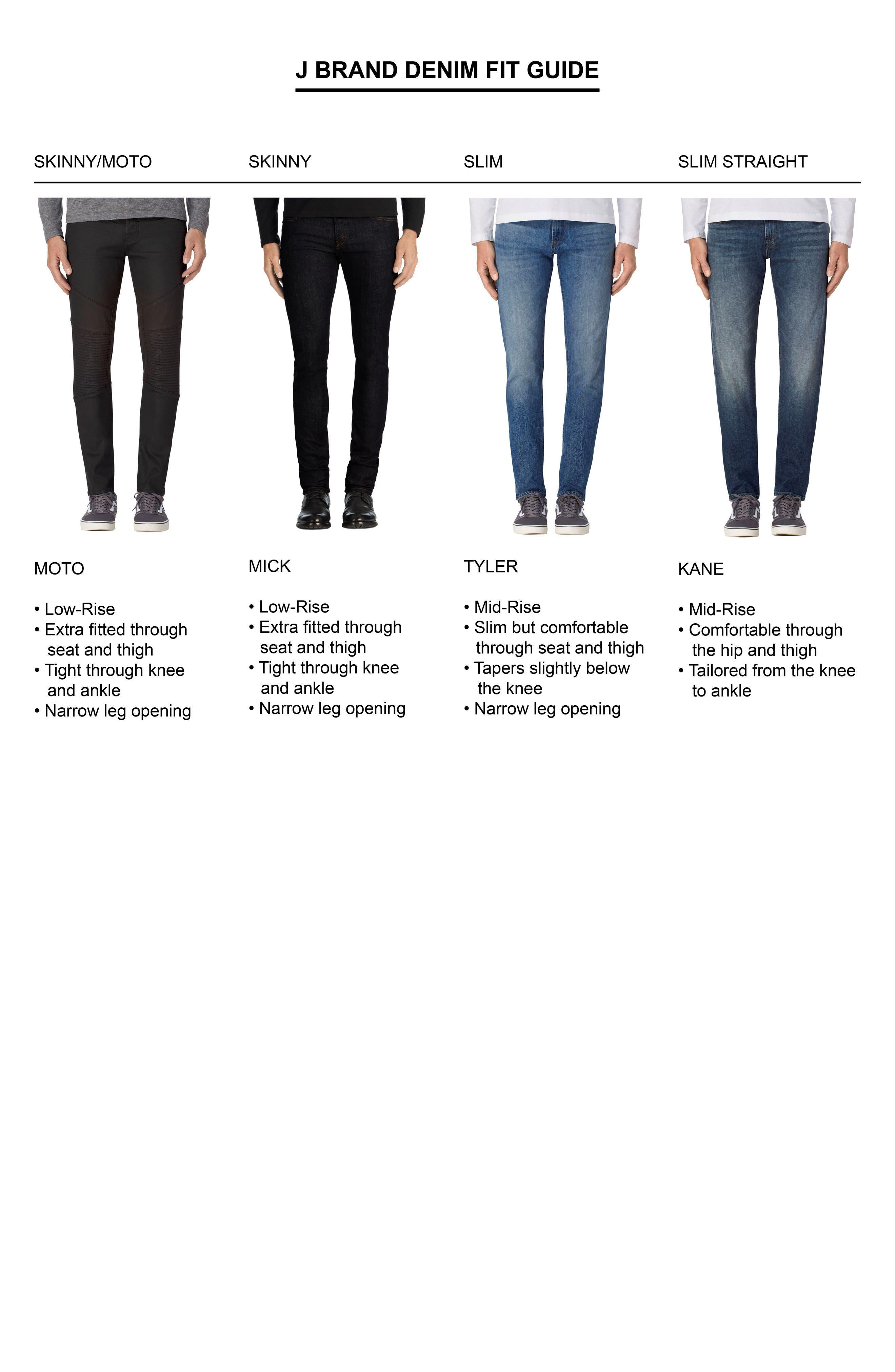 Alternate Image 4  - J Brand Kane Slim Straight Leg Jeans (Trivor Black)