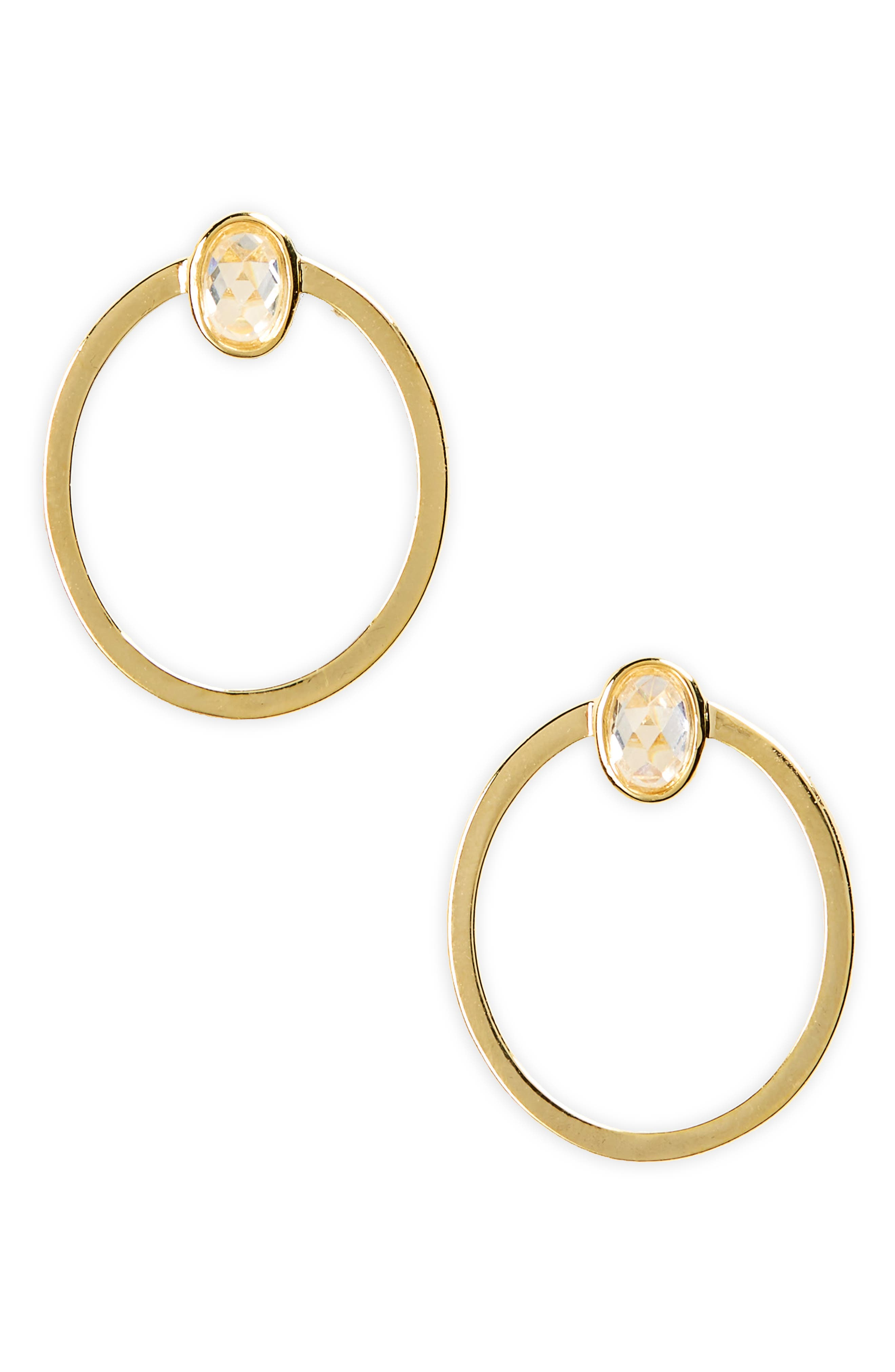 Rebecca Hoop Earrings,                         Main,                         color, Gold