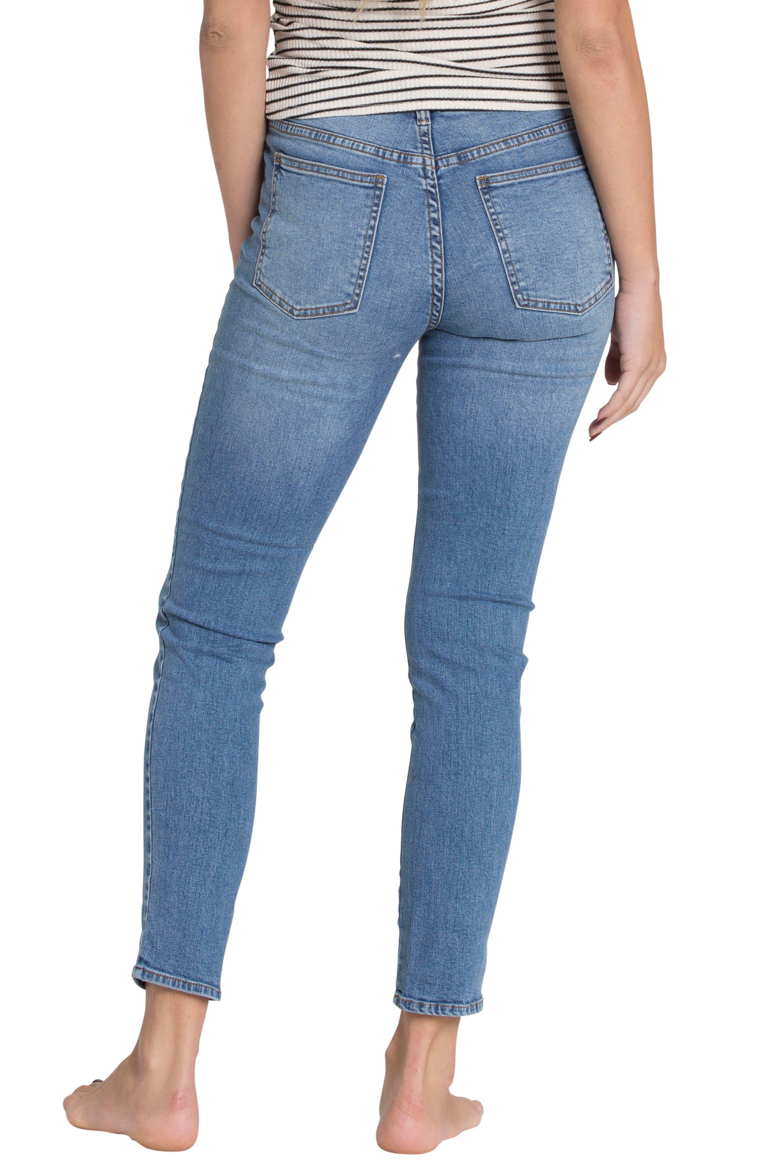 Alternate Image 2  - Billabong Side by Side Skinny Jeans (Blue Tide)