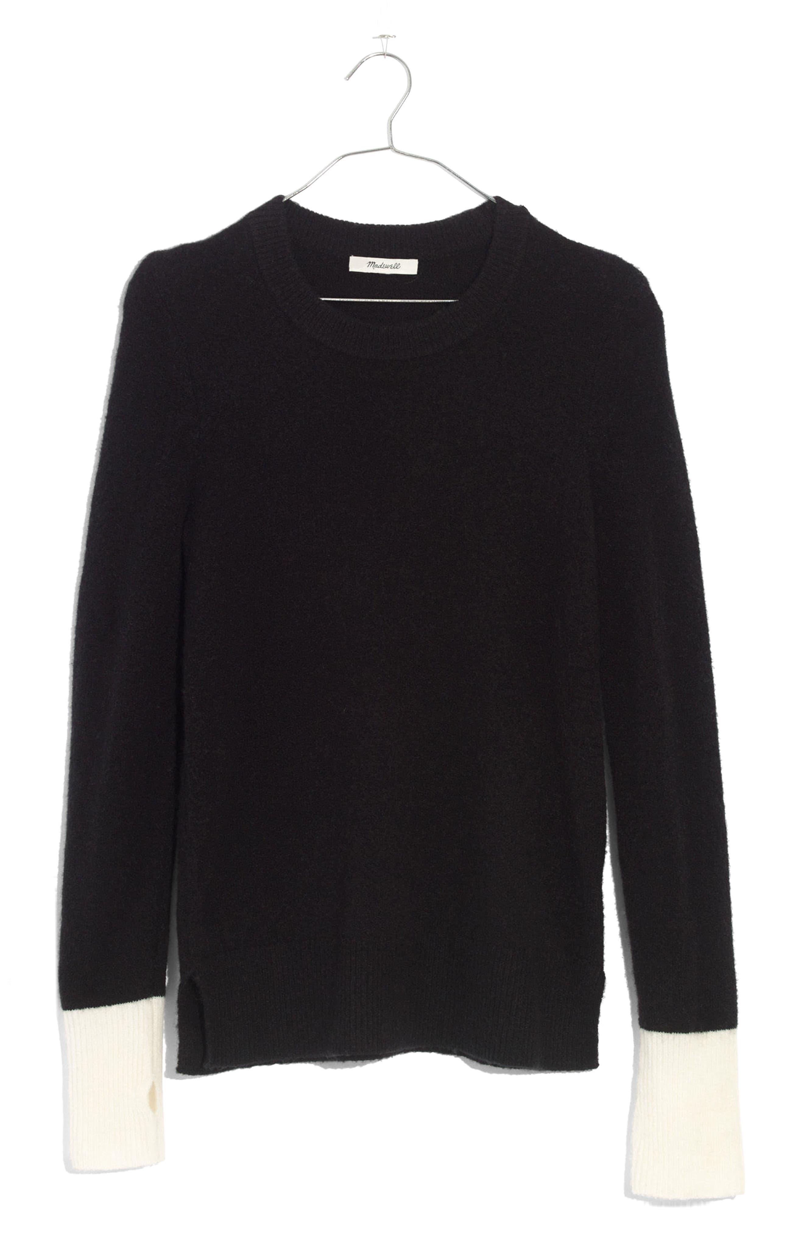 Fremont Colorblock Pullover Sweater,                             Alternate thumbnail 7, color,                             True Black