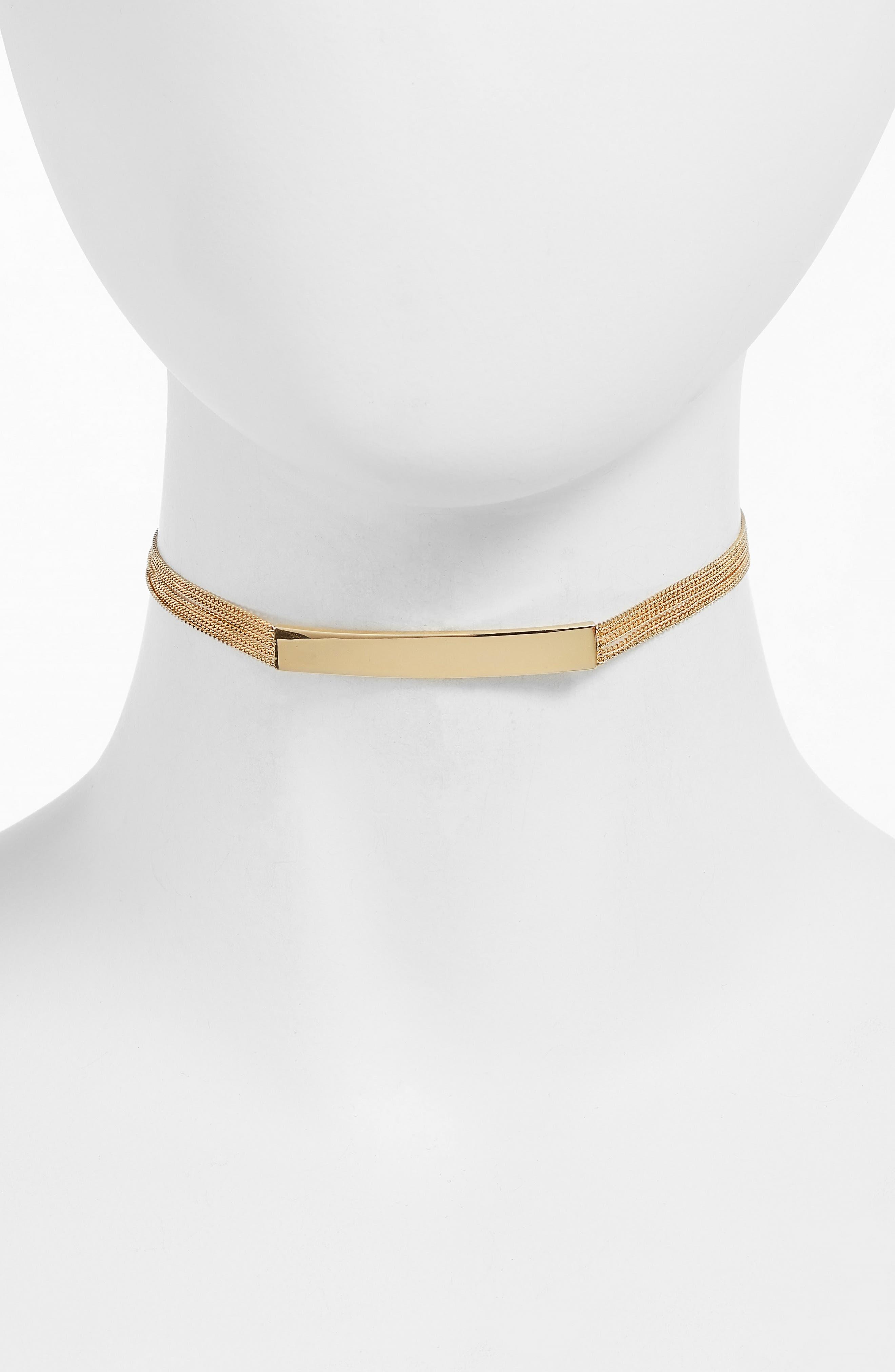 Thera ID Choker,                         Main,                         color, Gold
